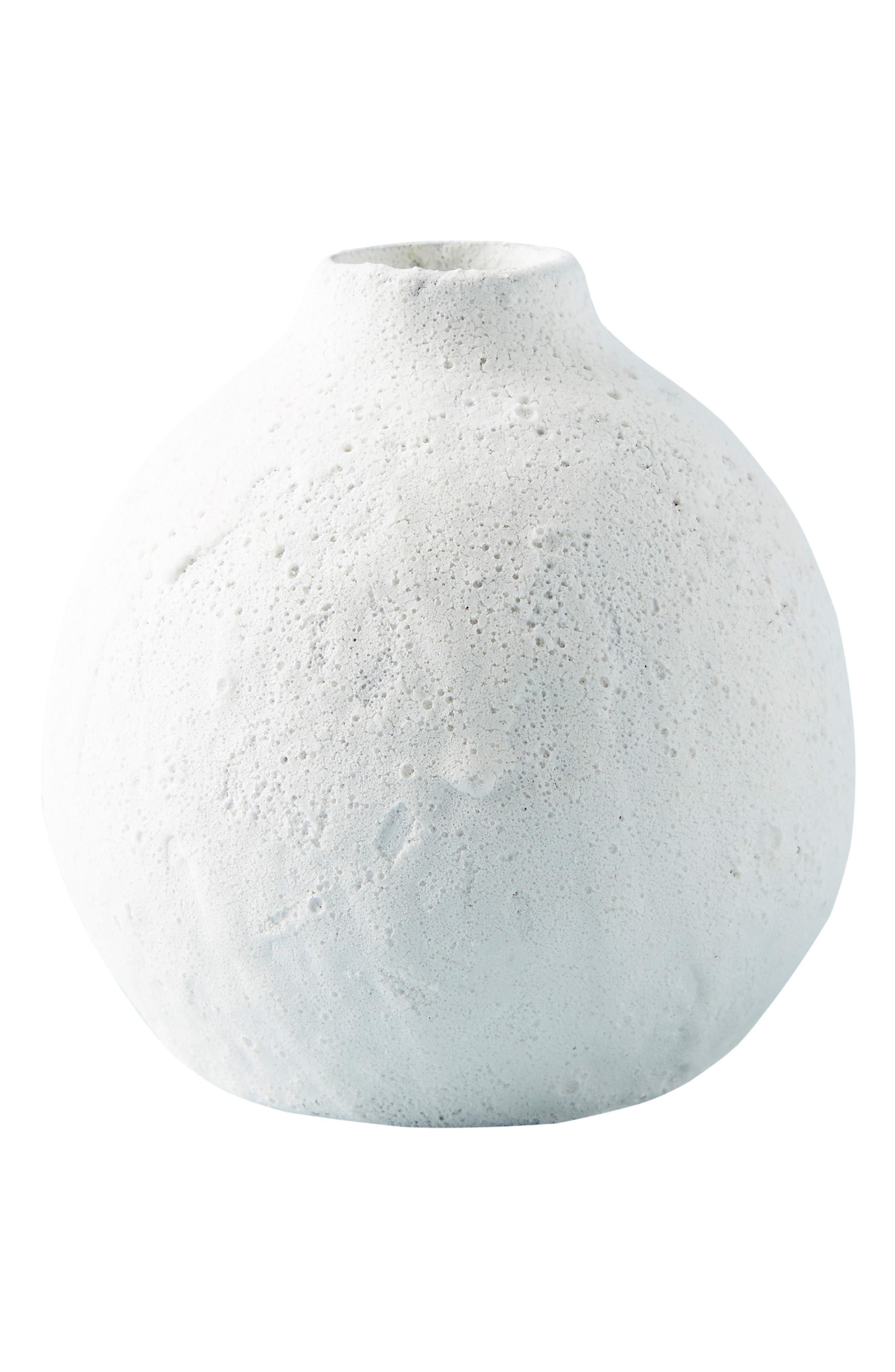 ANTHROPOLOGIE, Small Lark Vase, Alternate thumbnail 4, color, WHITE