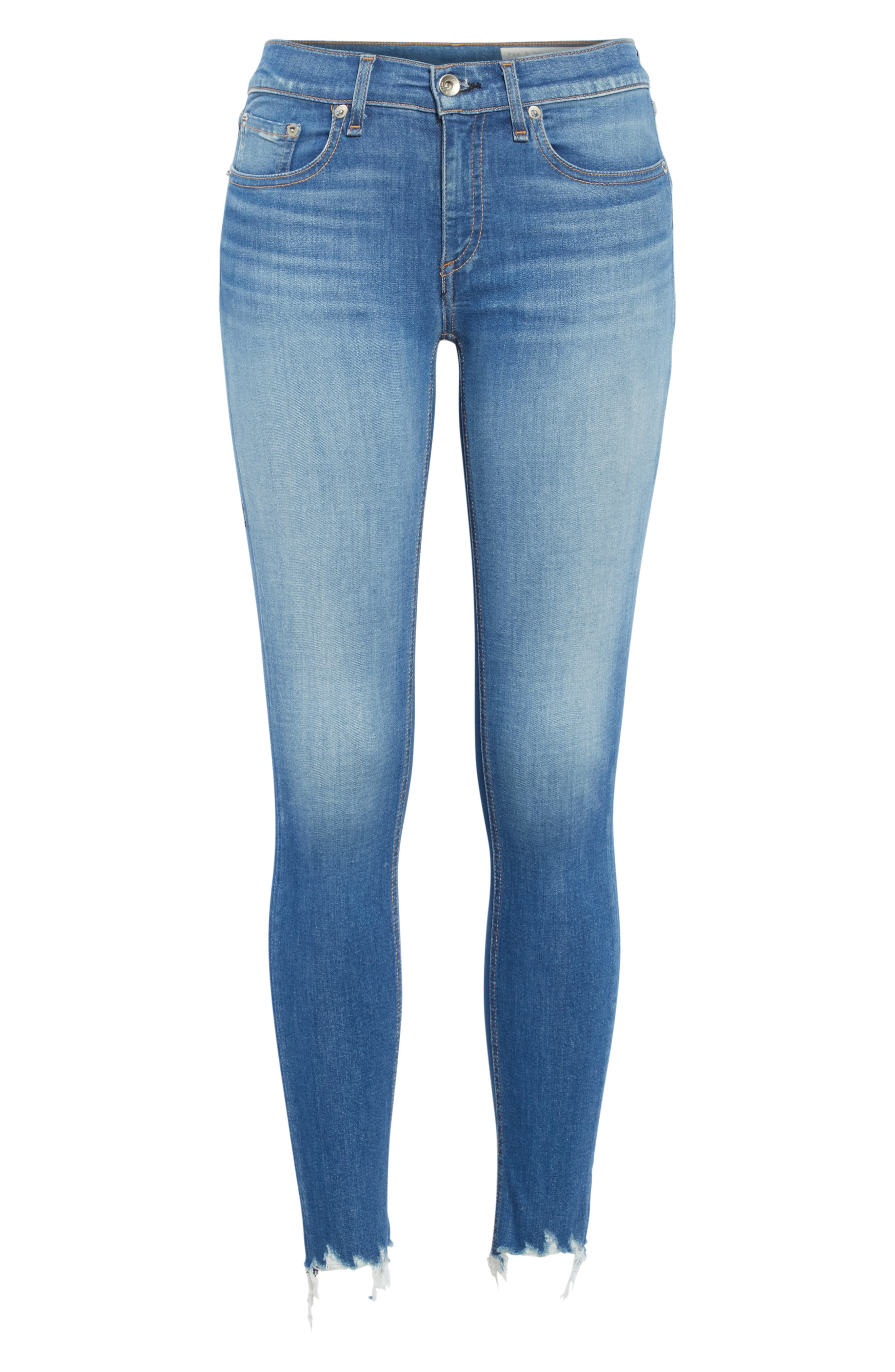 RAG & BONE, Cate High Waist Ankle Skinny Jeans, Alternate thumbnail 7, color, FLINT