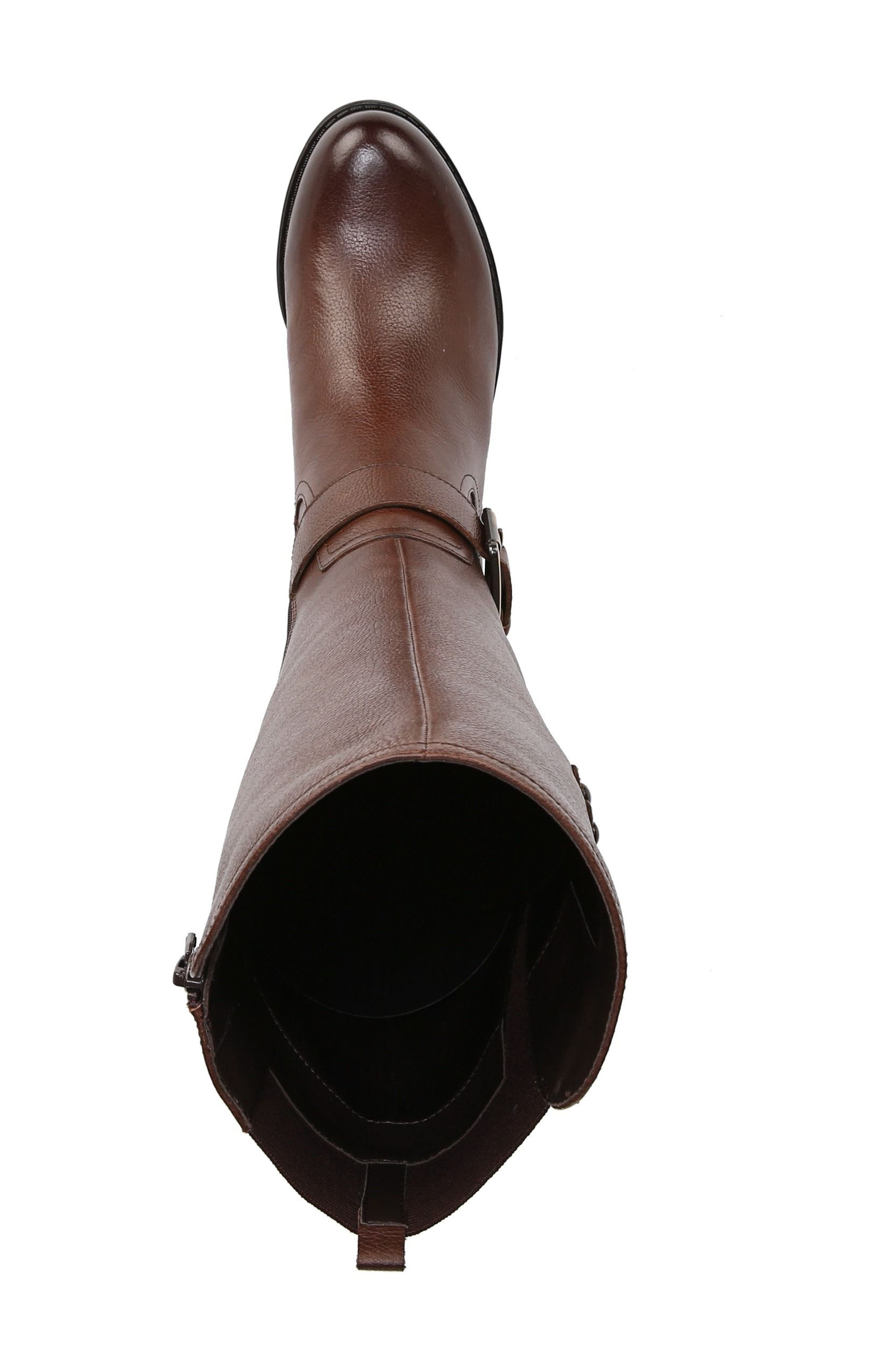 NATURALIZER, Jessie Knee High Riding Boot, Alternate thumbnail 5, color, CHOCOLATE LEATHER