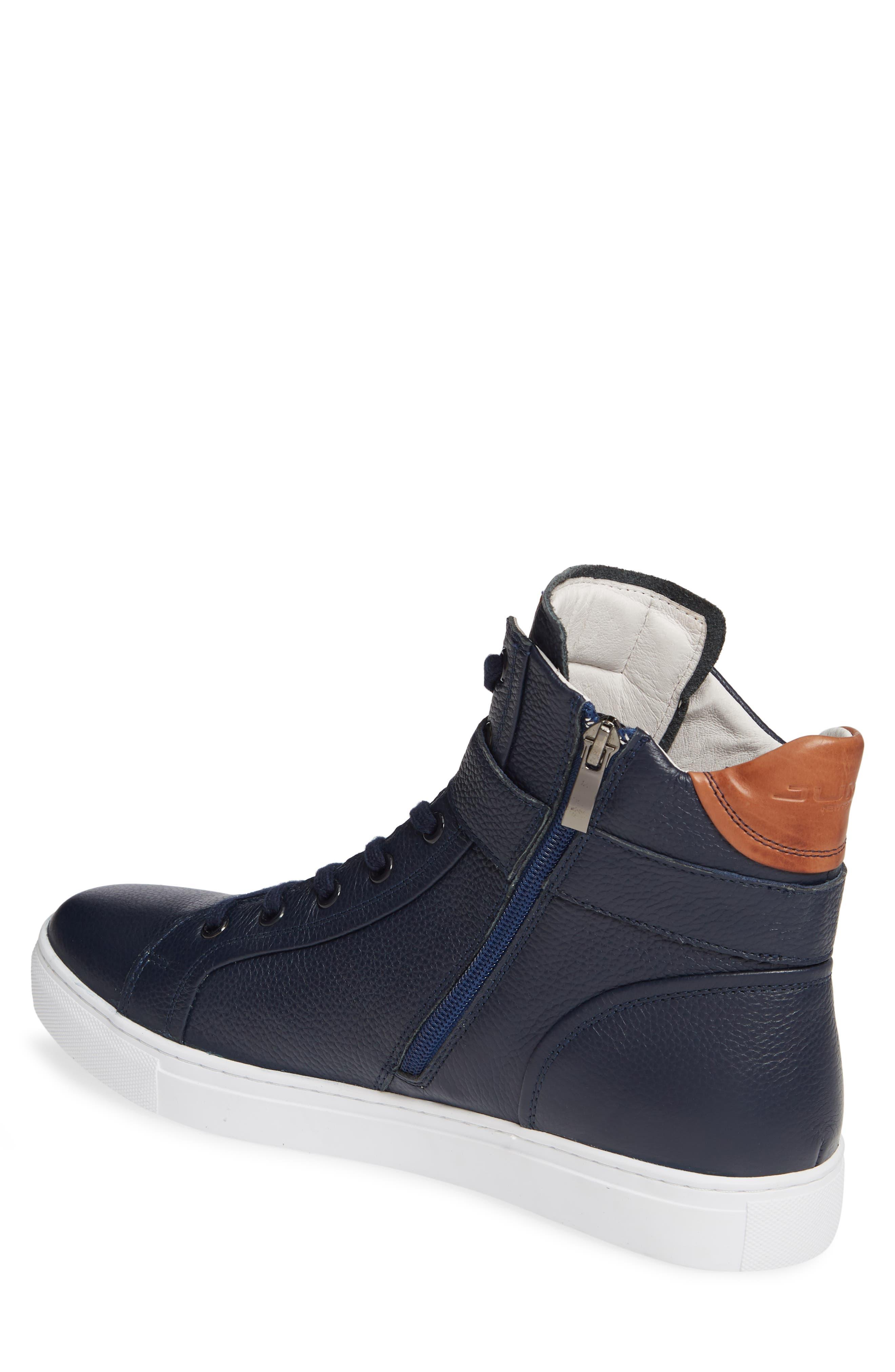JUMP, Bloke Sneaker, Alternate thumbnail 2, color, NAVY LEATHER