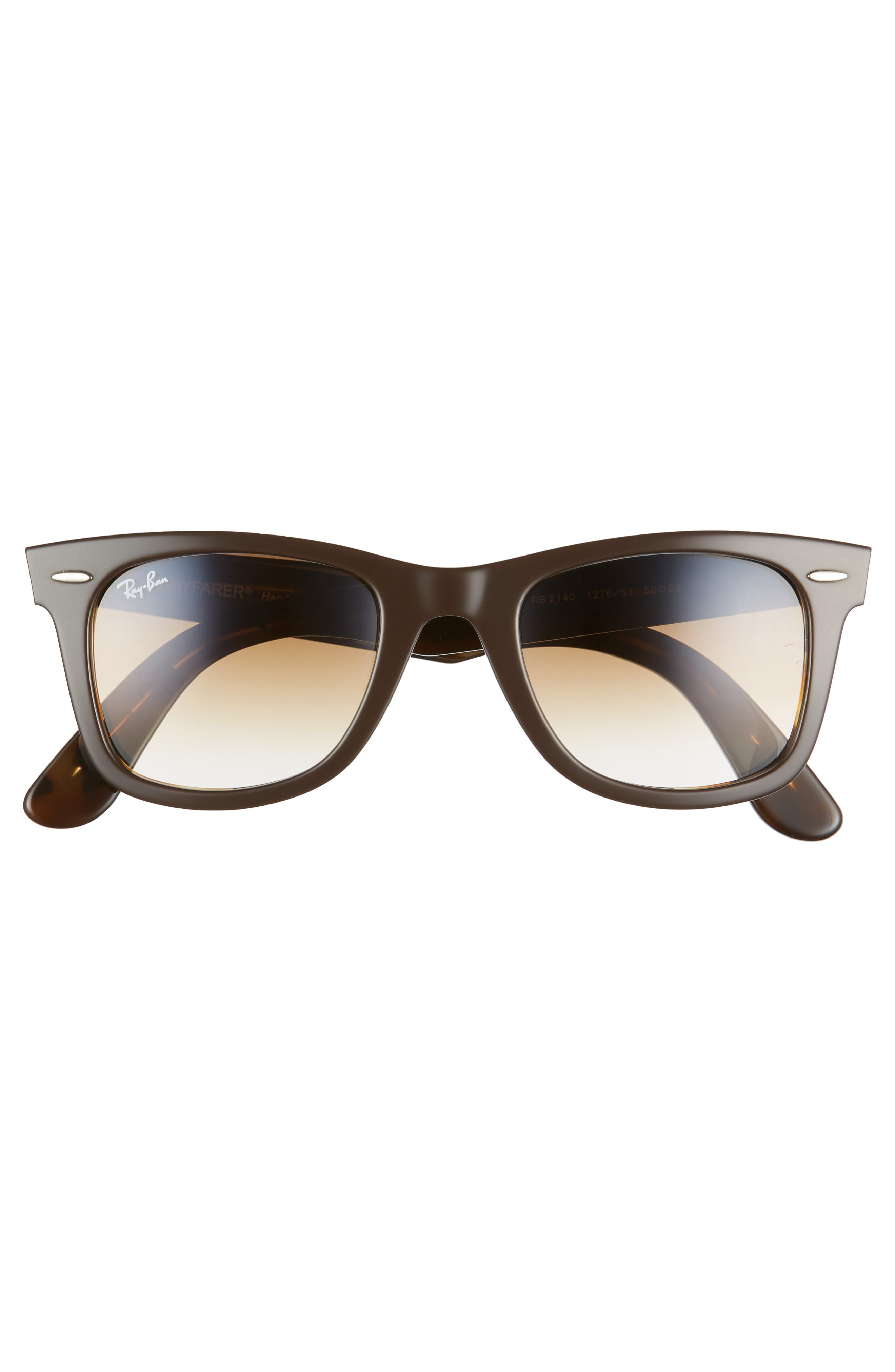 RAY-BAN, 'Classic Wayfarer' 50mm Sunglasses, Alternate thumbnail 3, color, BROWN/ YELLOW GRADIENT
