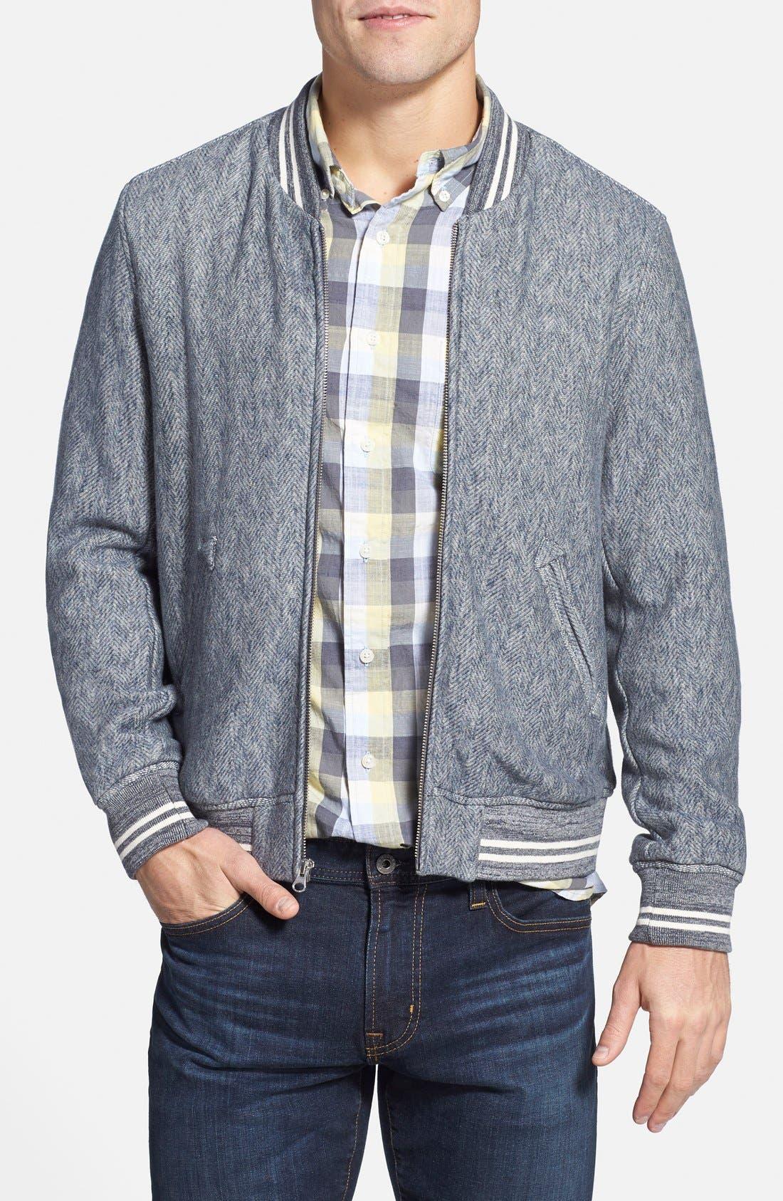 GRAYERS 'Russel' Herringbone Baseball Jacket, Main, color, 060
