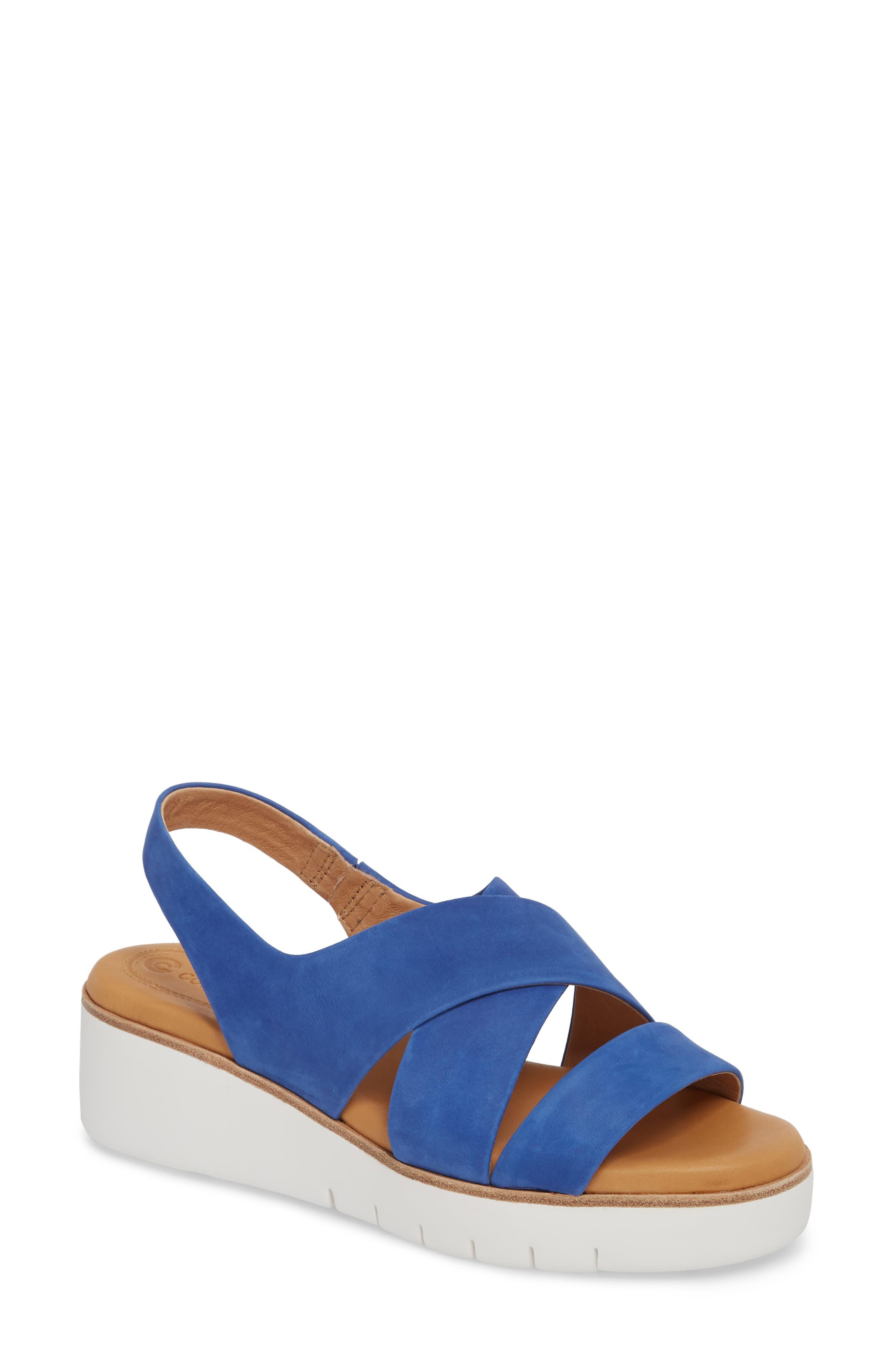 Cc Corso Como Brinney Wedge Sandal- Blue