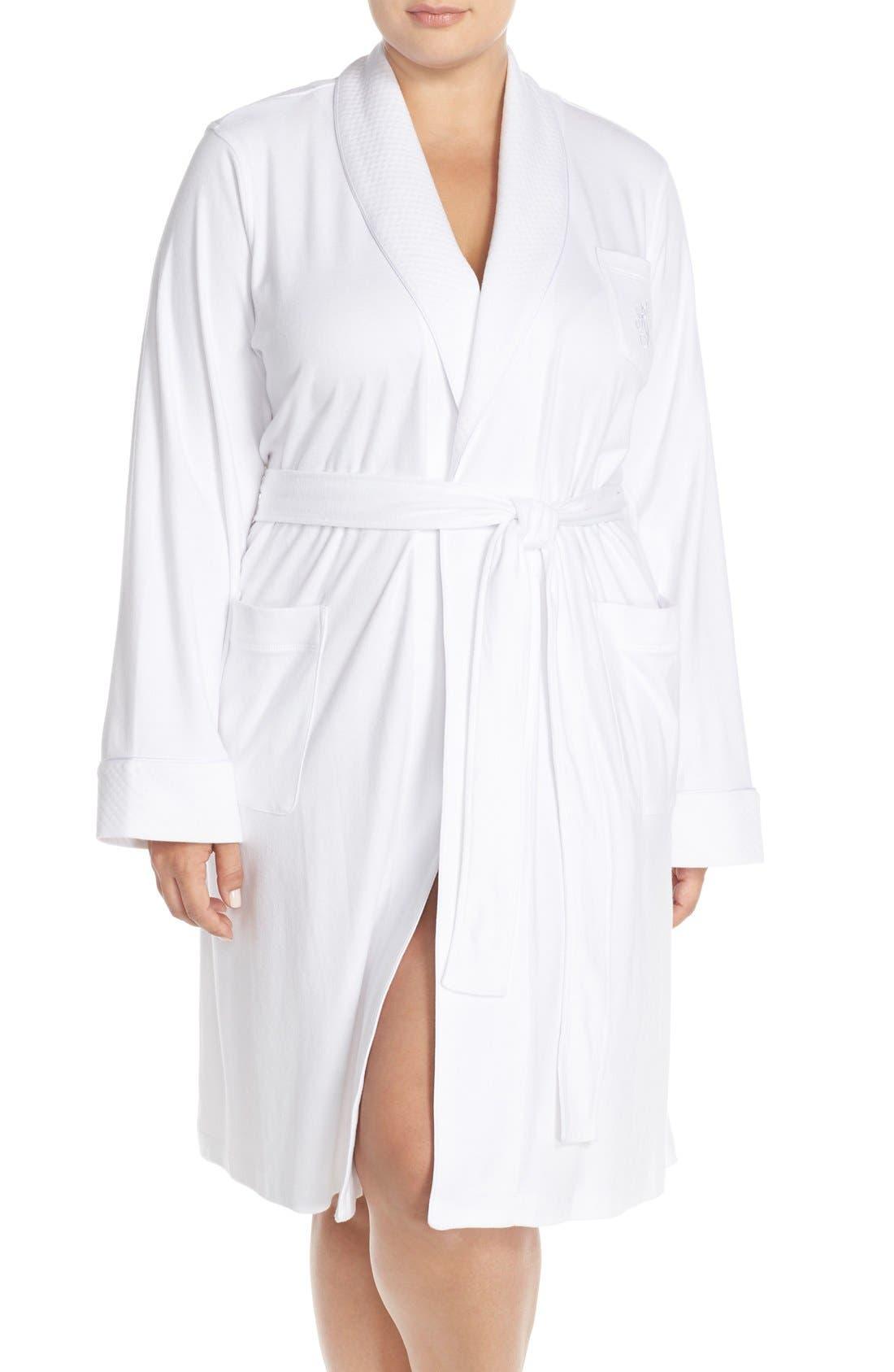 LAUREN RALPH LAUREN Shawl Collar Robe, Main, color, WHITE