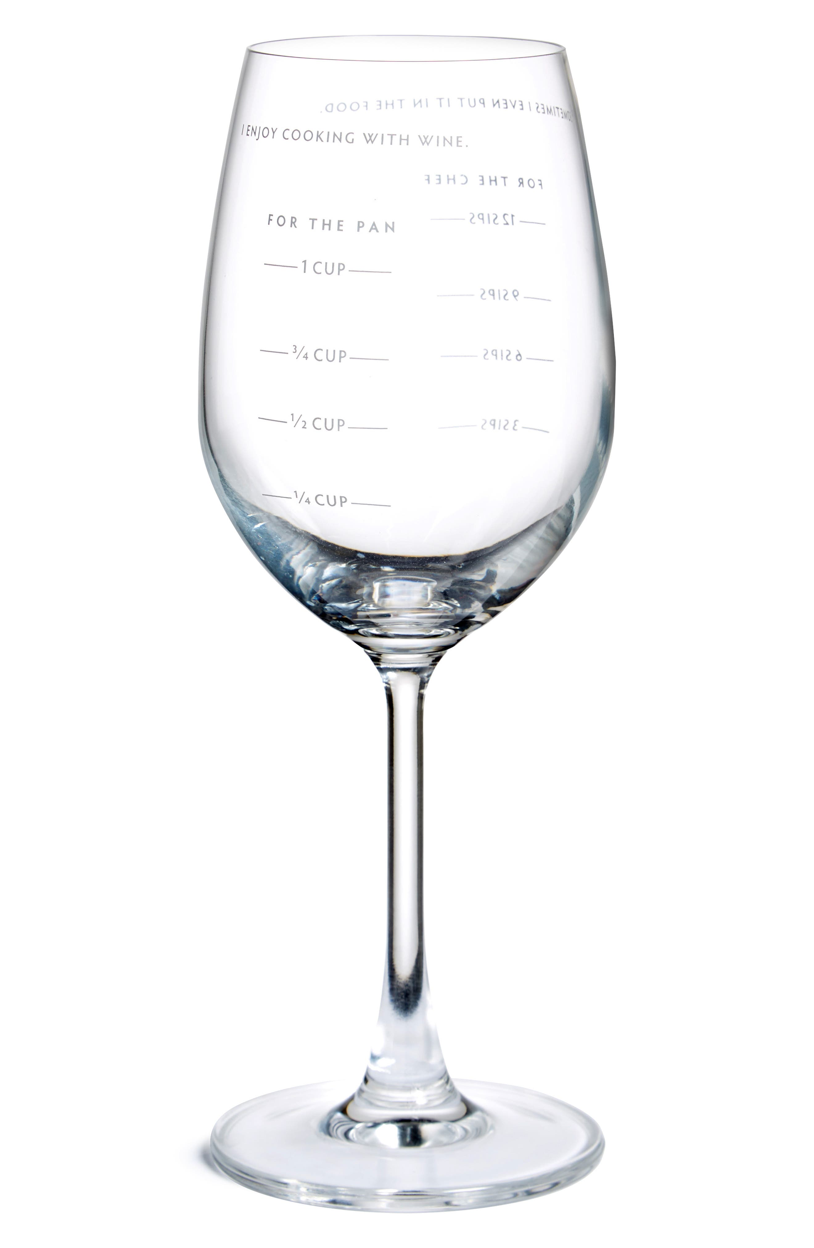 FRED & FRIENDS Sauced Measuring Wine Glass, Main, color, 100