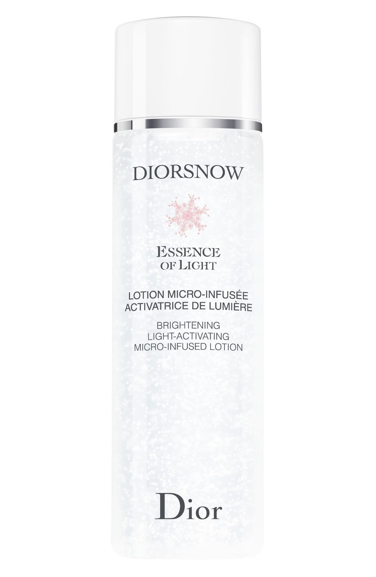 DIOR, Diorsnow Essence of Light Brightening Light-Activating Micro Infused Lotion Essence, Main thumbnail 1, color, NO COLOR