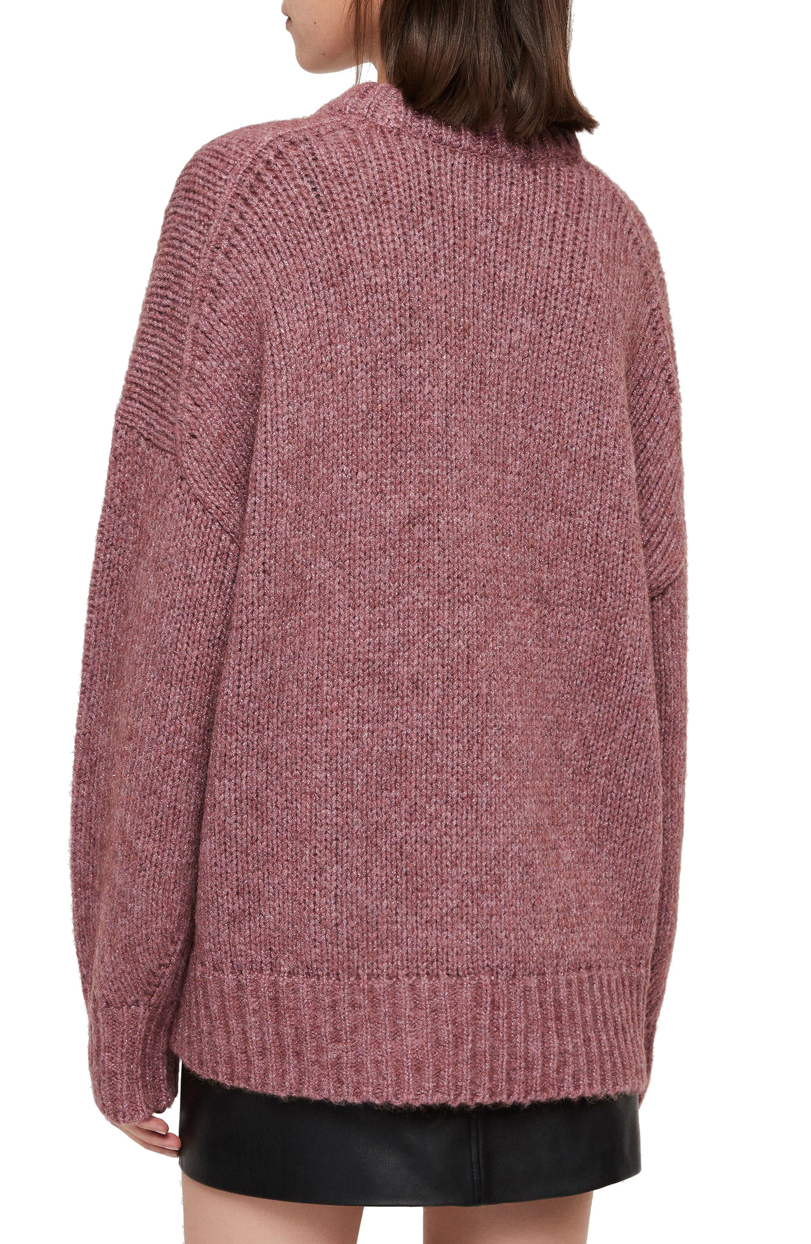 ALLSAINTS, Gemini Metallic Knit Sweater, Alternate thumbnail 2, color, 653
