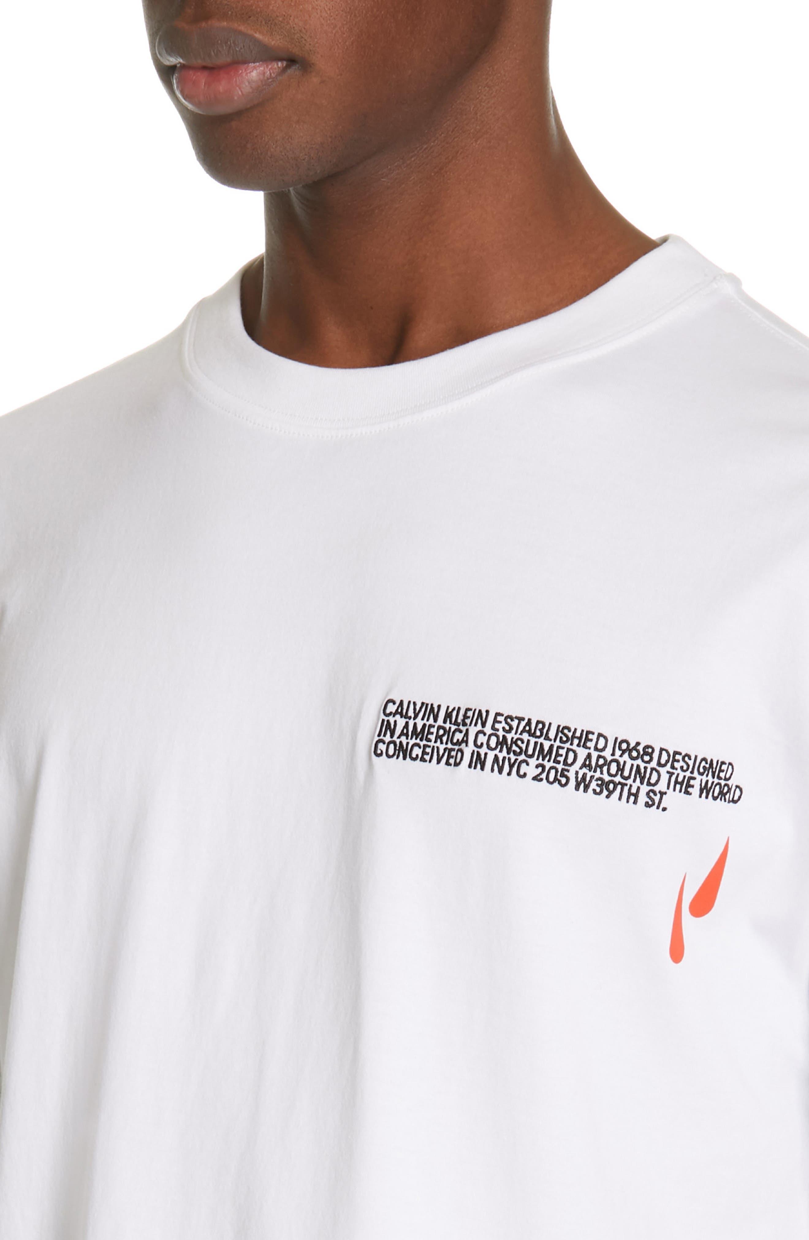 CALVIN KLEIN 205W39NYC, Logo T-Shirt, Alternate thumbnail 4, color, OPTIC WHITE