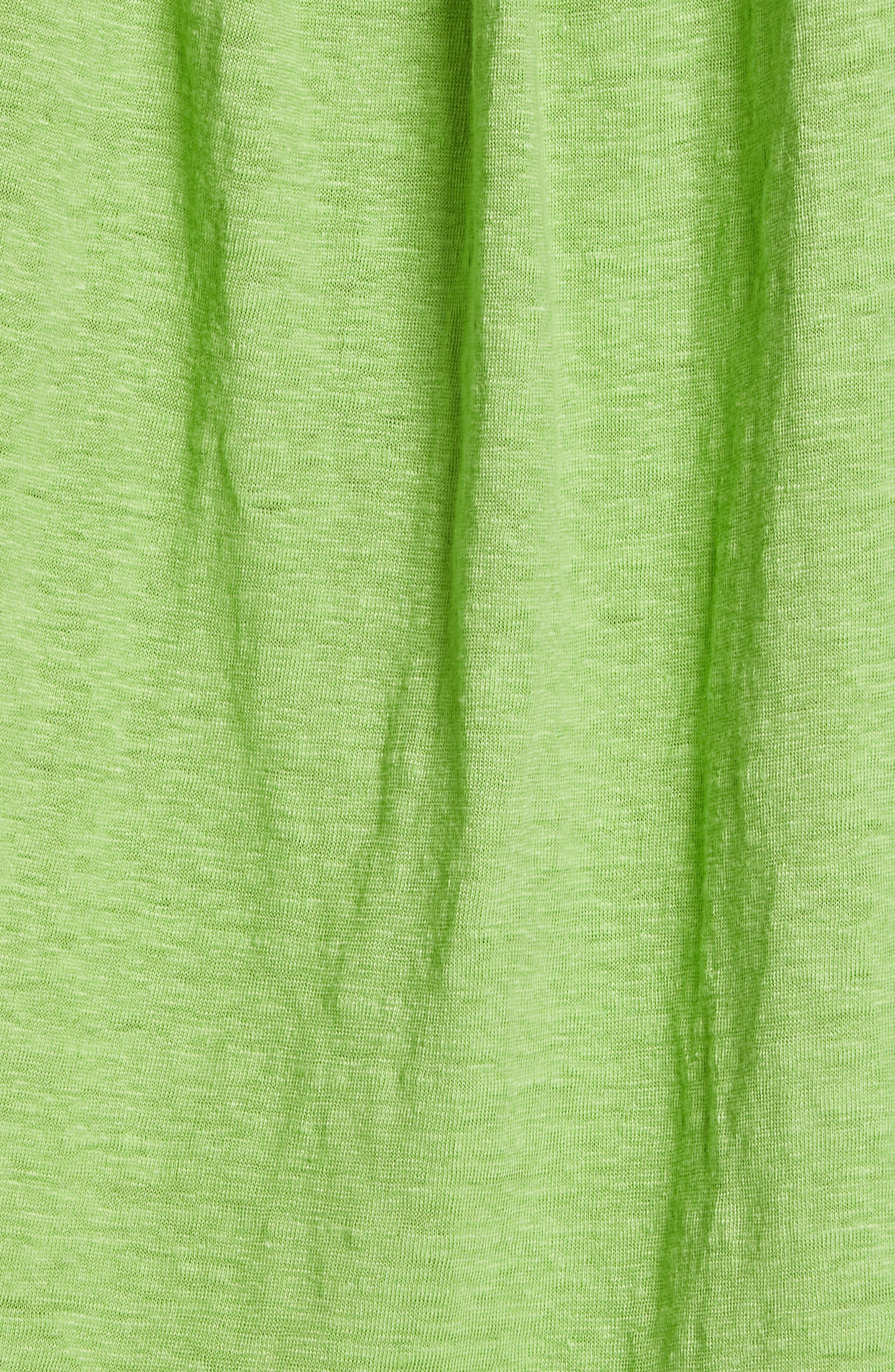 EILEEN FISHER, Organic Linen Boxy Tee, Alternate thumbnail 5, color, APPLE