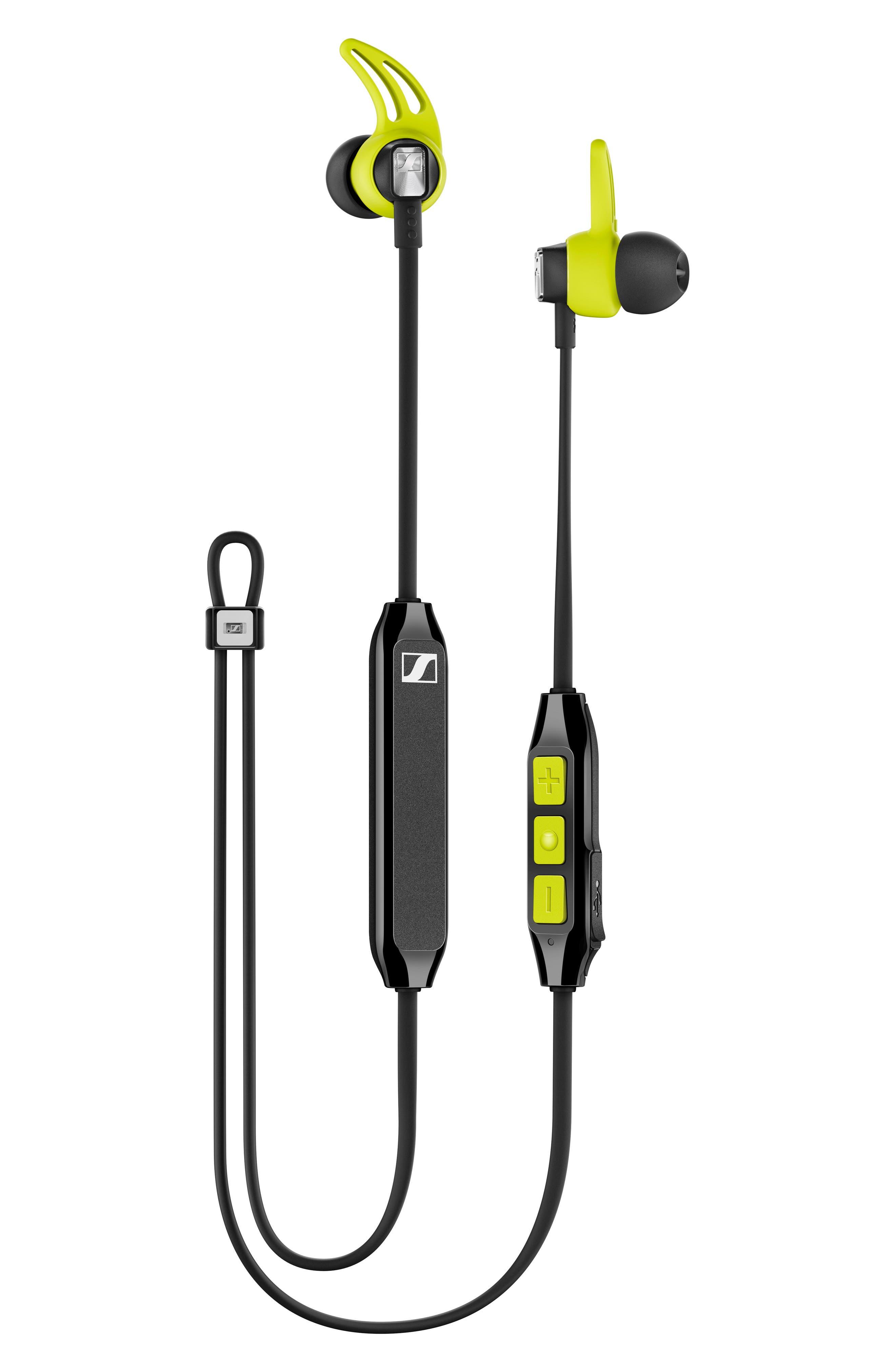 SENNHEISER, CX Sport In-Ear Bluetooth<sup>®</sup> Headphones, Main thumbnail 1, color, BLACK/ YELLOW