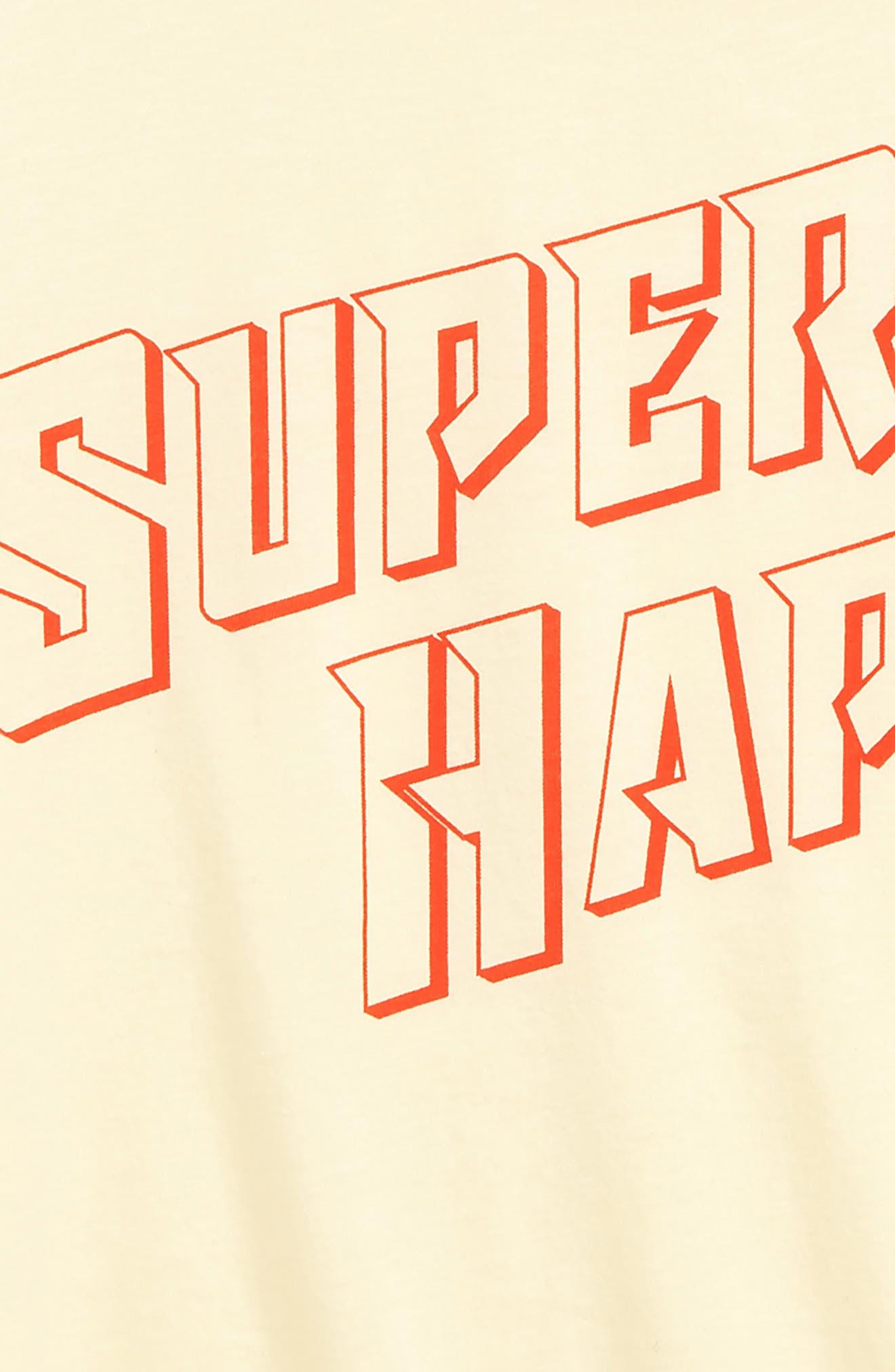 TREASURE & BOND, Ringer Tee, Alternate thumbnail 2, color, YELLOW CLOVER SUPER HAPPY