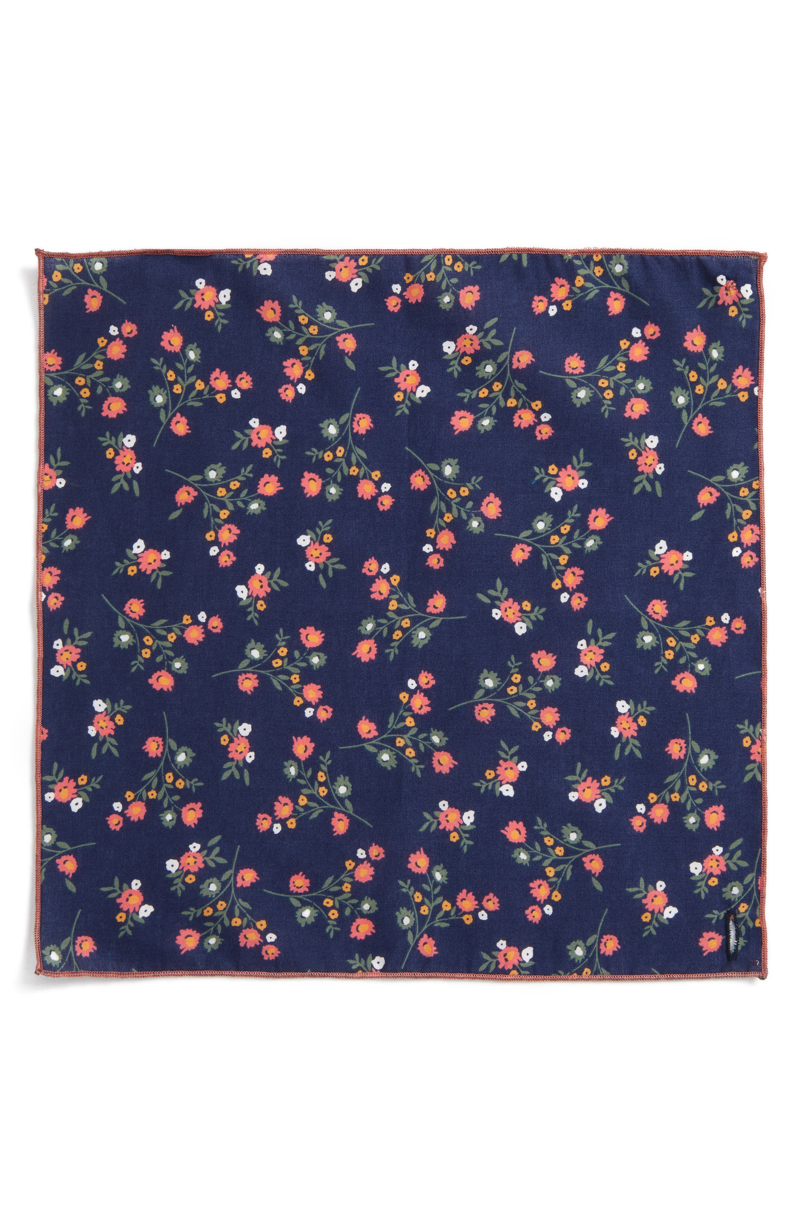 ARMSTRONG & WILSON, Baby Rose Cotton Pocket Square, Alternate thumbnail 2, color, 410
