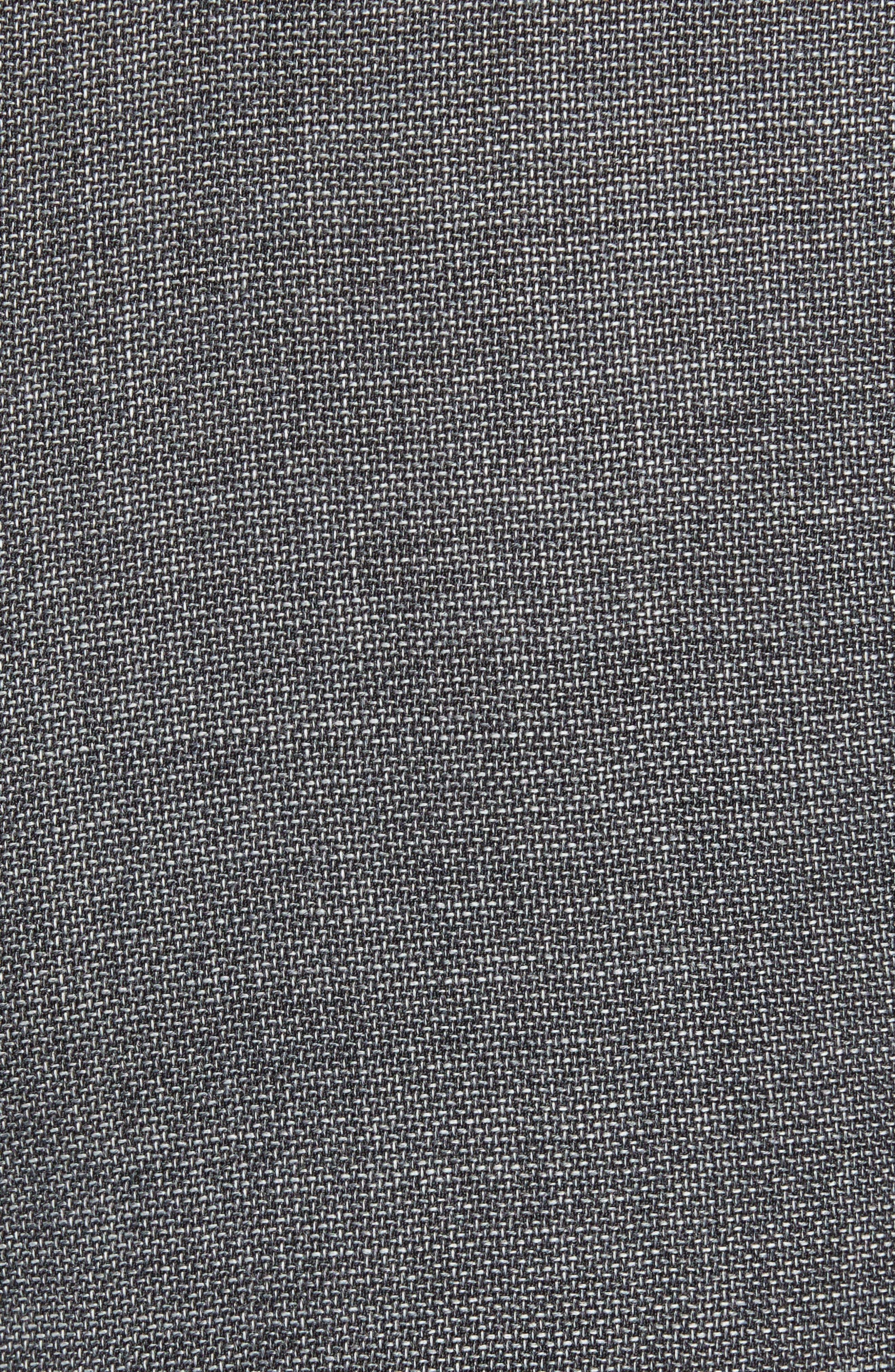 JOHN W. NORDSTROM<SUP>®</SUP>, Torino Flat Front Solid Wool Trousers, Alternate thumbnail 5, color, GREY PHANTOM BASKET WEAVE