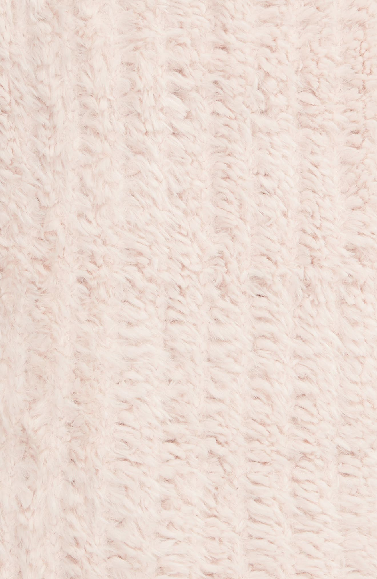 NORDSTROM AT HOME, Lazy Days Faux Fur Throw Blanket, Alternate thumbnail 2, color, PINK FROSTY