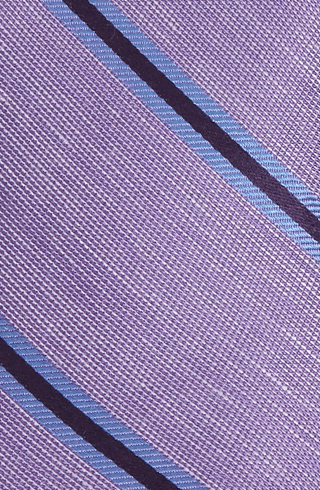 THE TIE BAR, Purple Trend Set of 3 Skinny Silk Ties, Alternate thumbnail 3, color, 500