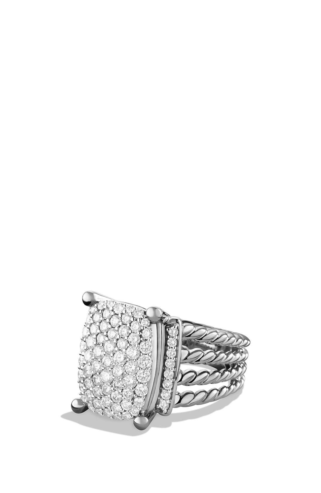DAVID YURMAN, 'Wheaton' Ring with Diamonds, Main thumbnail 1, color, DIAMOND