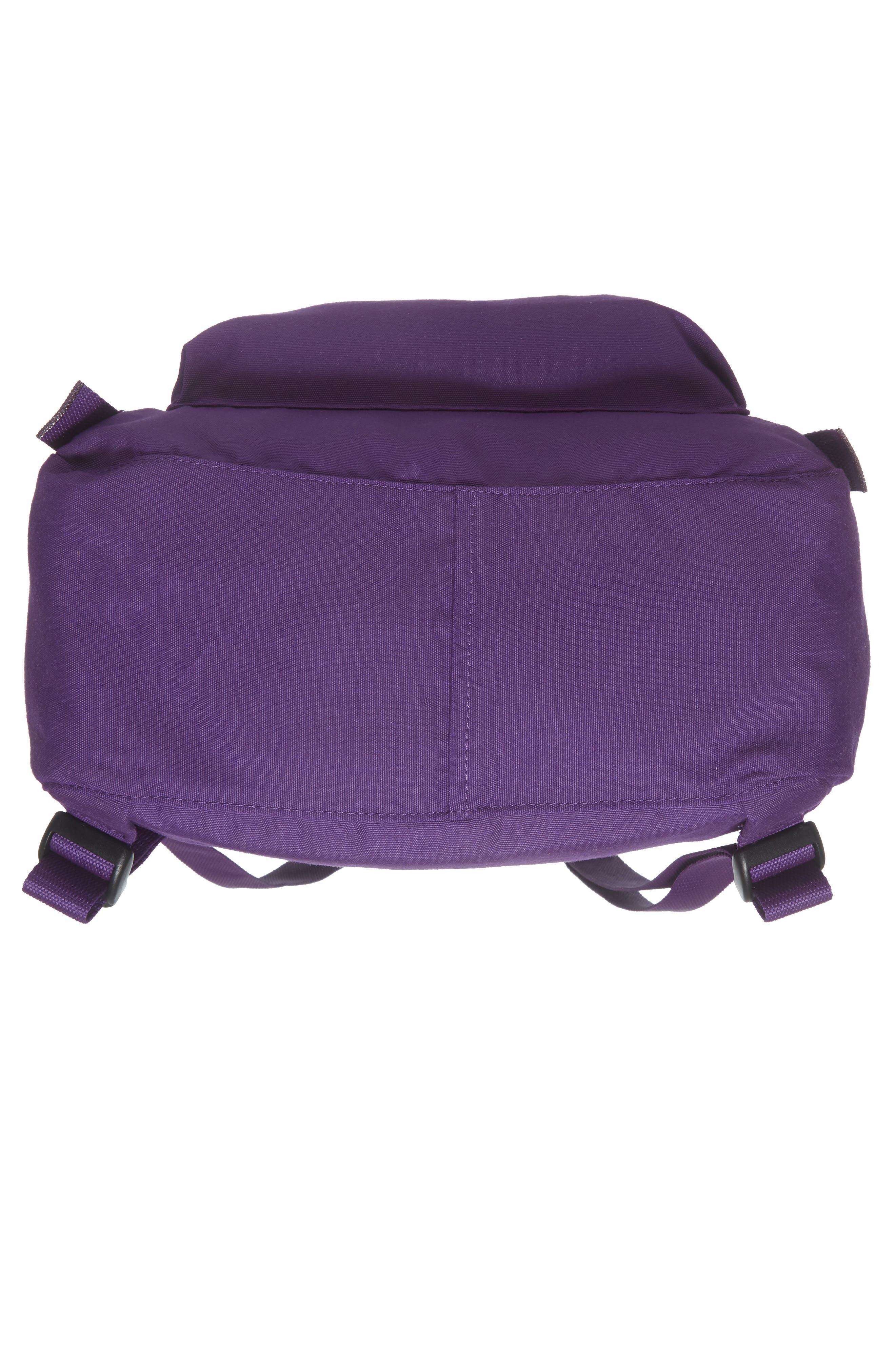 FJÄLLRÄVEN, Re-Kånken Water Resistant Backpack, Alternate thumbnail 6, color, DEEP VIOLET