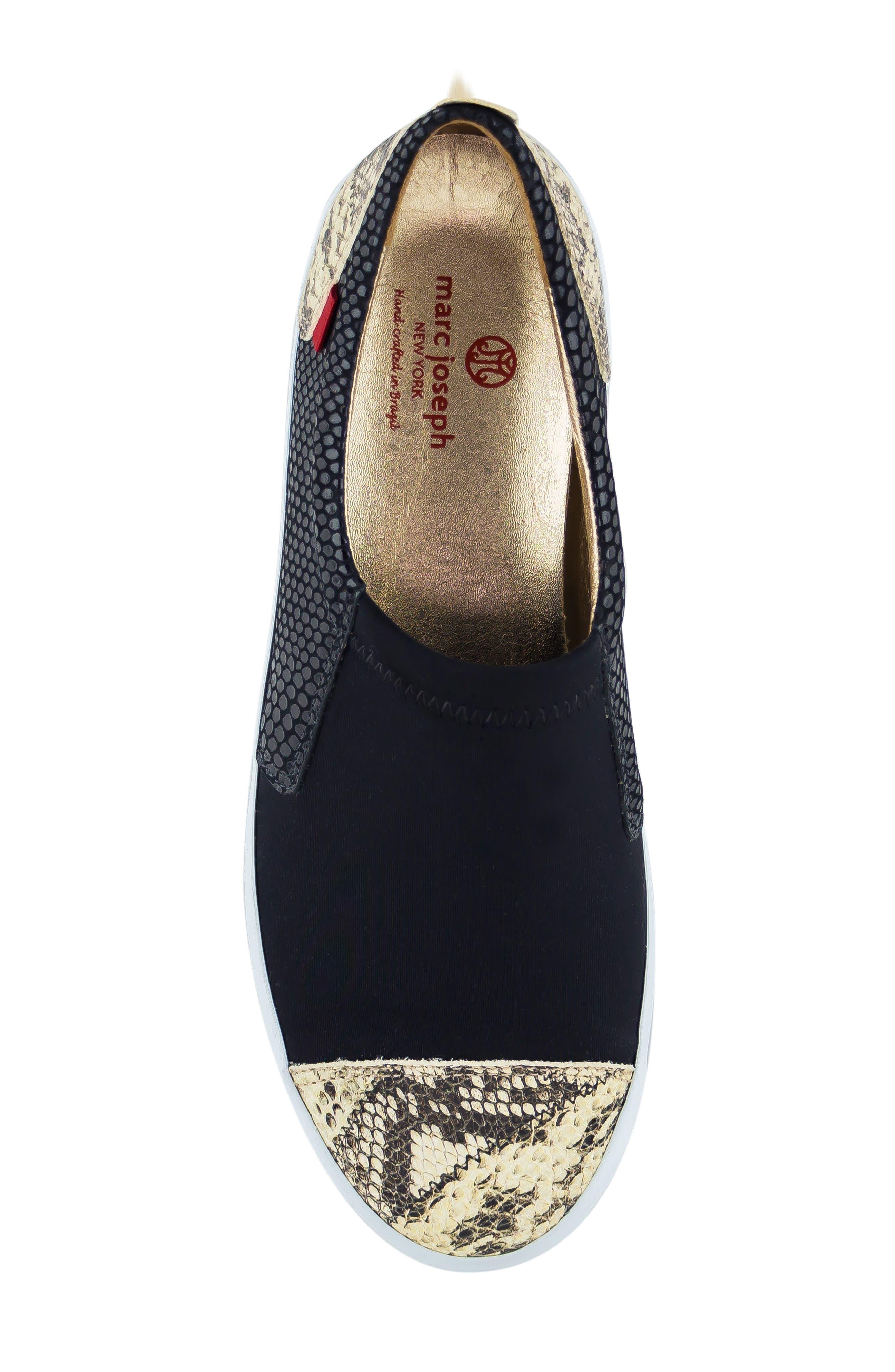 MARC JOSEPH NEW YORK, Jay Street Sneaker, Alternate thumbnail 5, color, BLACK PATCHWORK