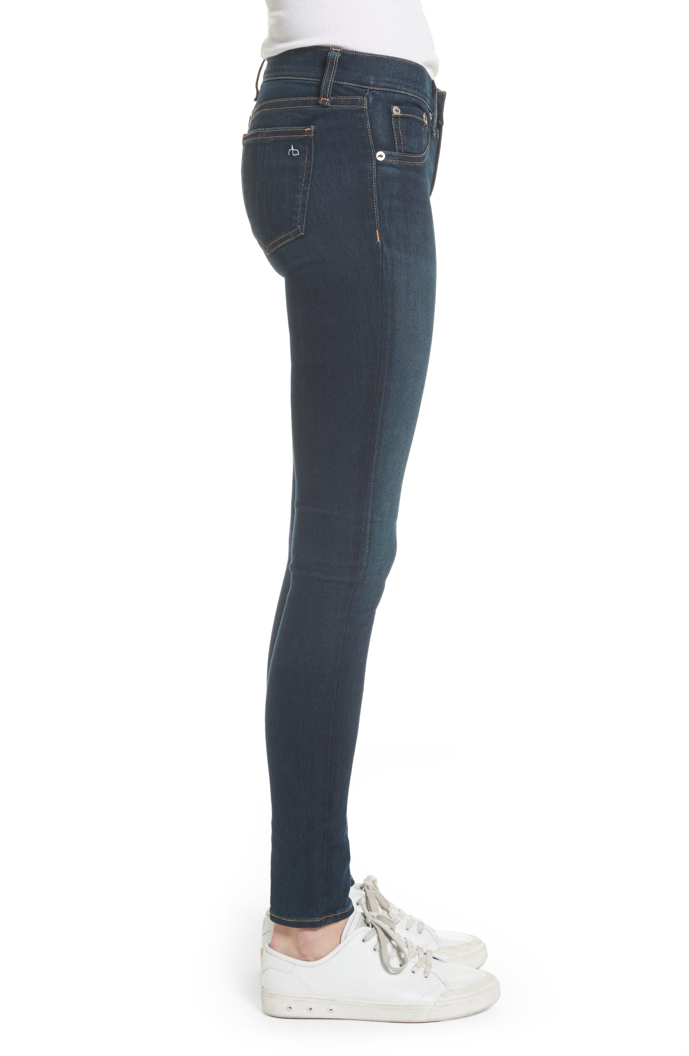 RAG & BONE, Skinny Stretch Jeans, Alternate thumbnail 5, color, BEDFORD