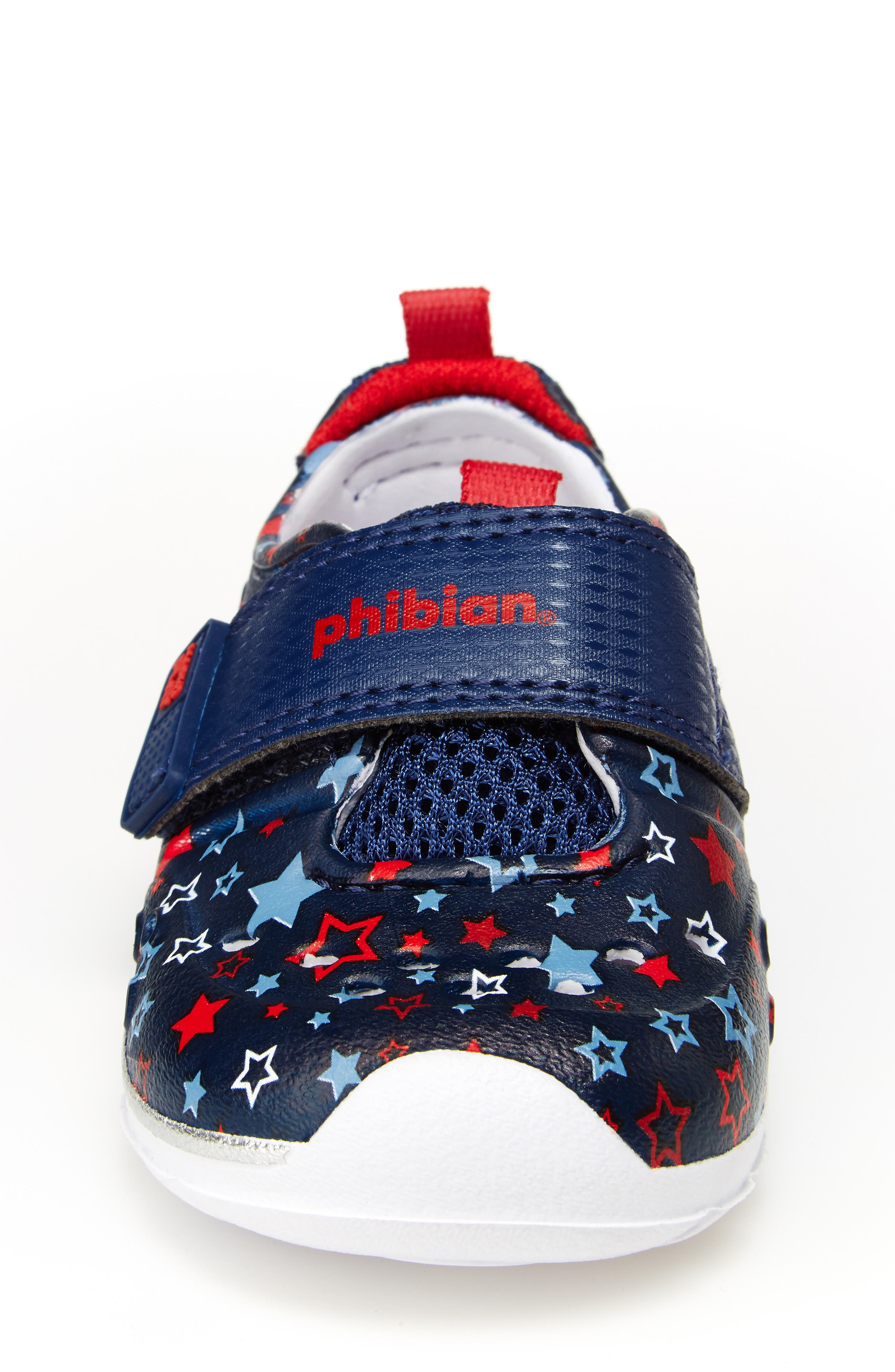 STRIDE RITE, Made2Play<sup>®</sup> Phibian Sneaker, Alternate thumbnail 4, color, NAVY STAR