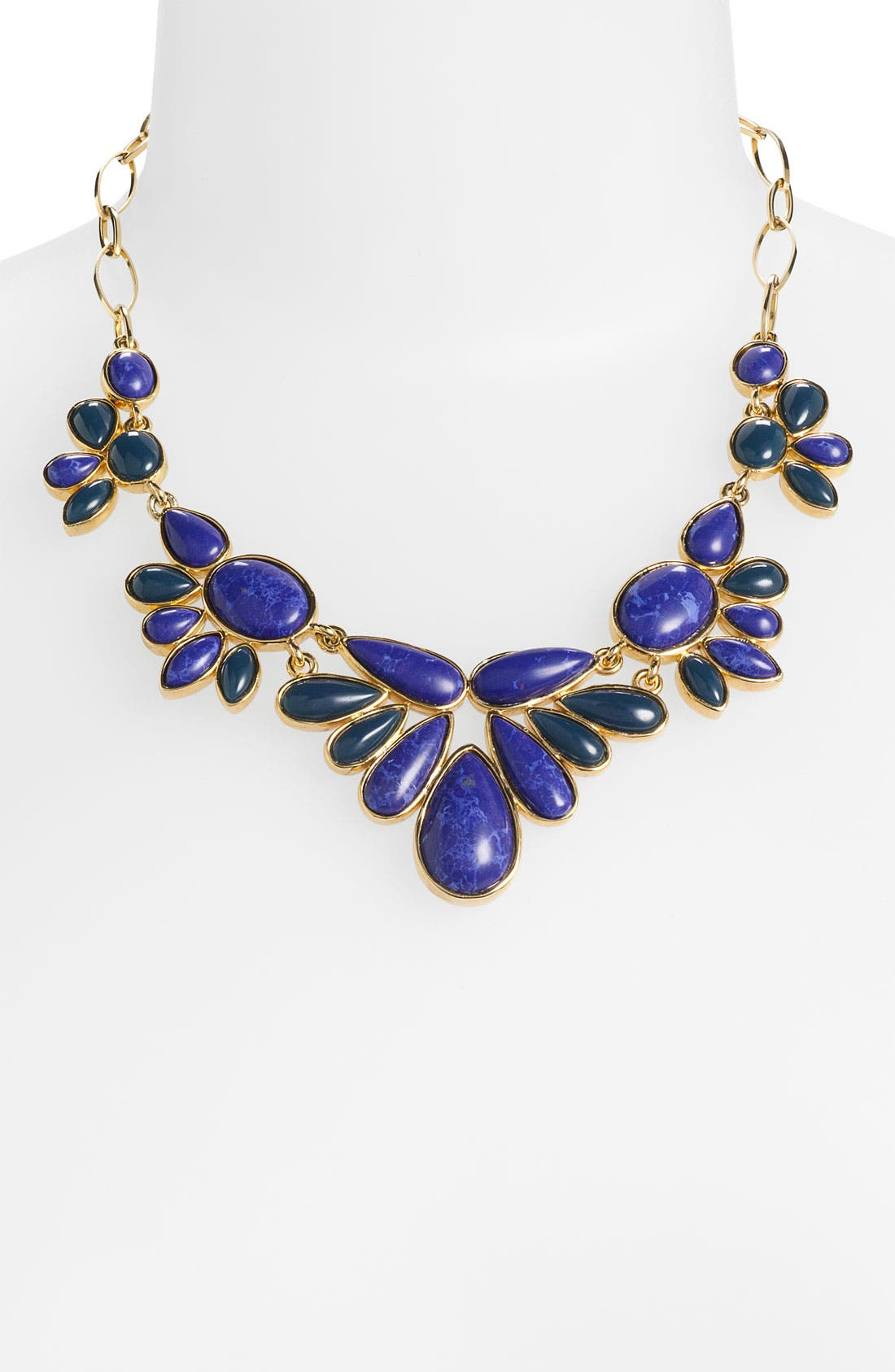 NORDSTROM, 'Lapis of Luxury' Frontal Necklace, Main thumbnail 1, color, 400