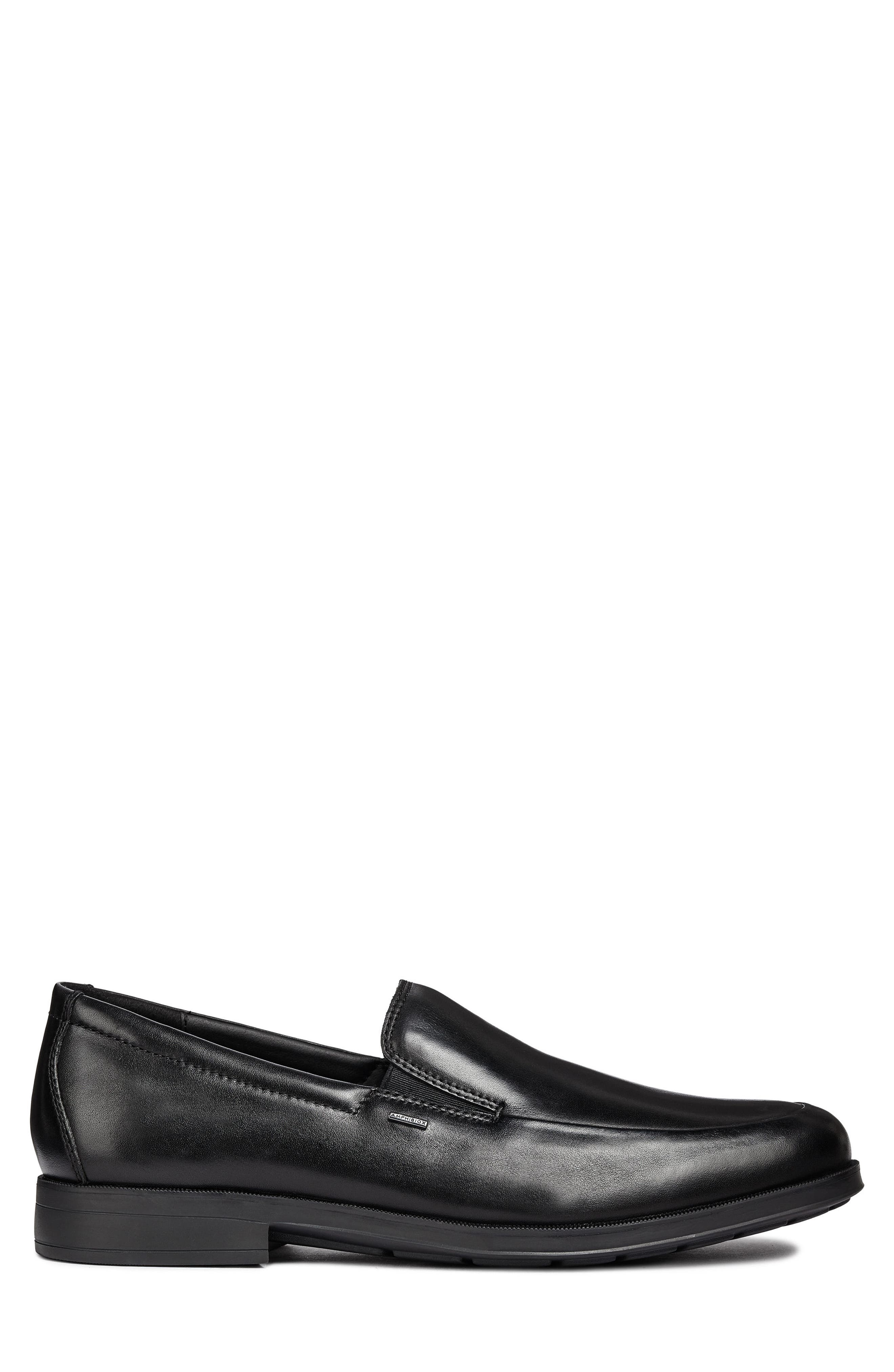 GEOX, Hilstone ABX 2 Loafer, Alternate thumbnail 3, color, 001