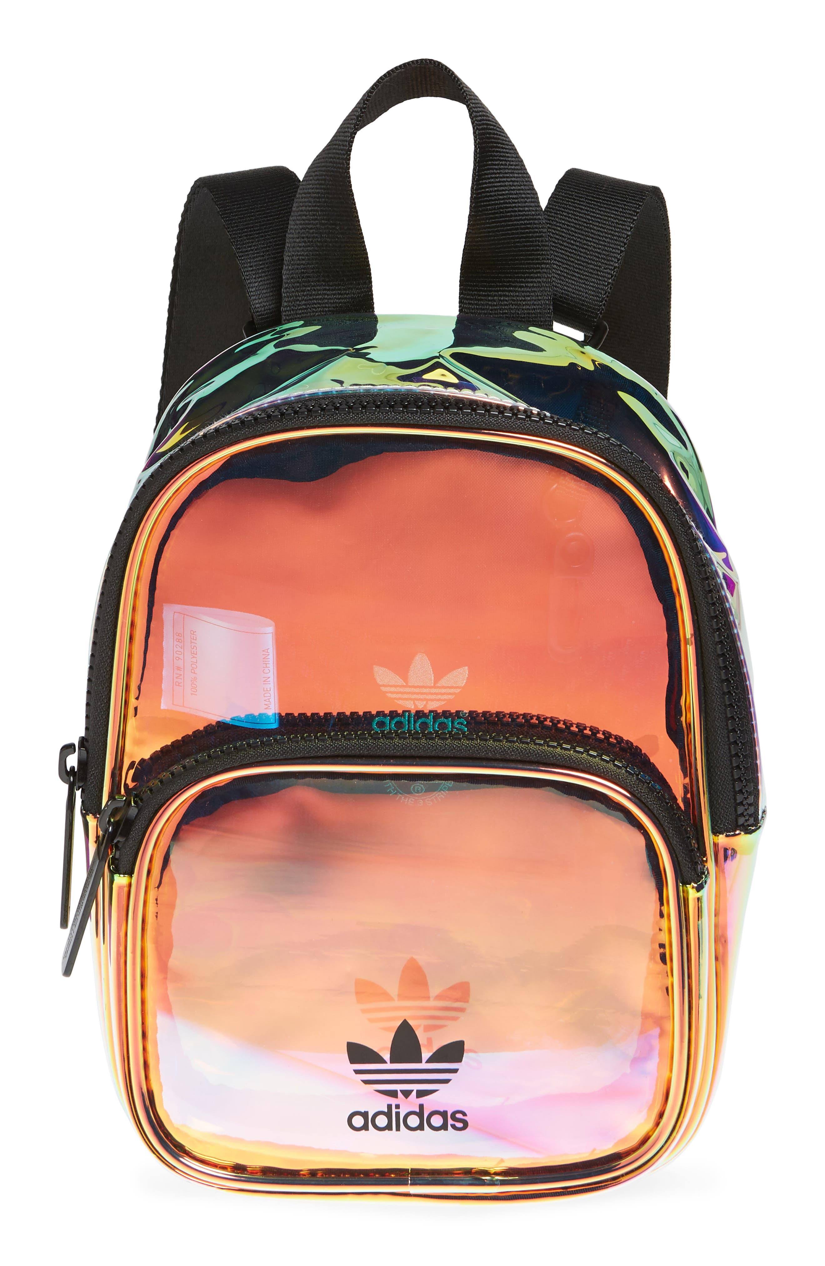 ADIDAS Ori Mini Holographic Clear Backpack, Main, color, 710