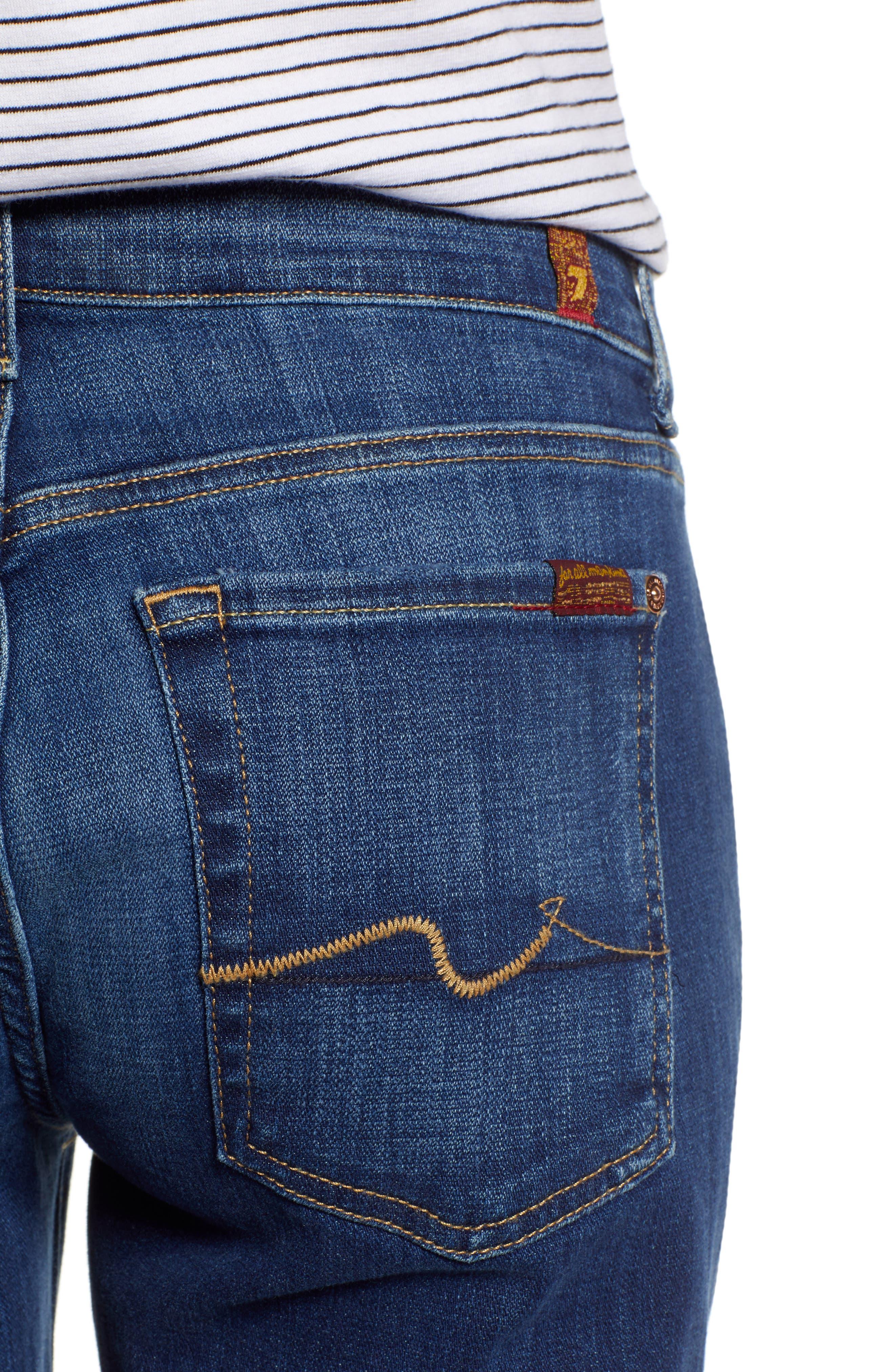 7 FOR ALL MANKIND<SUP>®</SUP>, Josefina Boyfriend Jeans, Alternate thumbnail 5, color, BROKEN TWILL VANITY W/ DESTROY