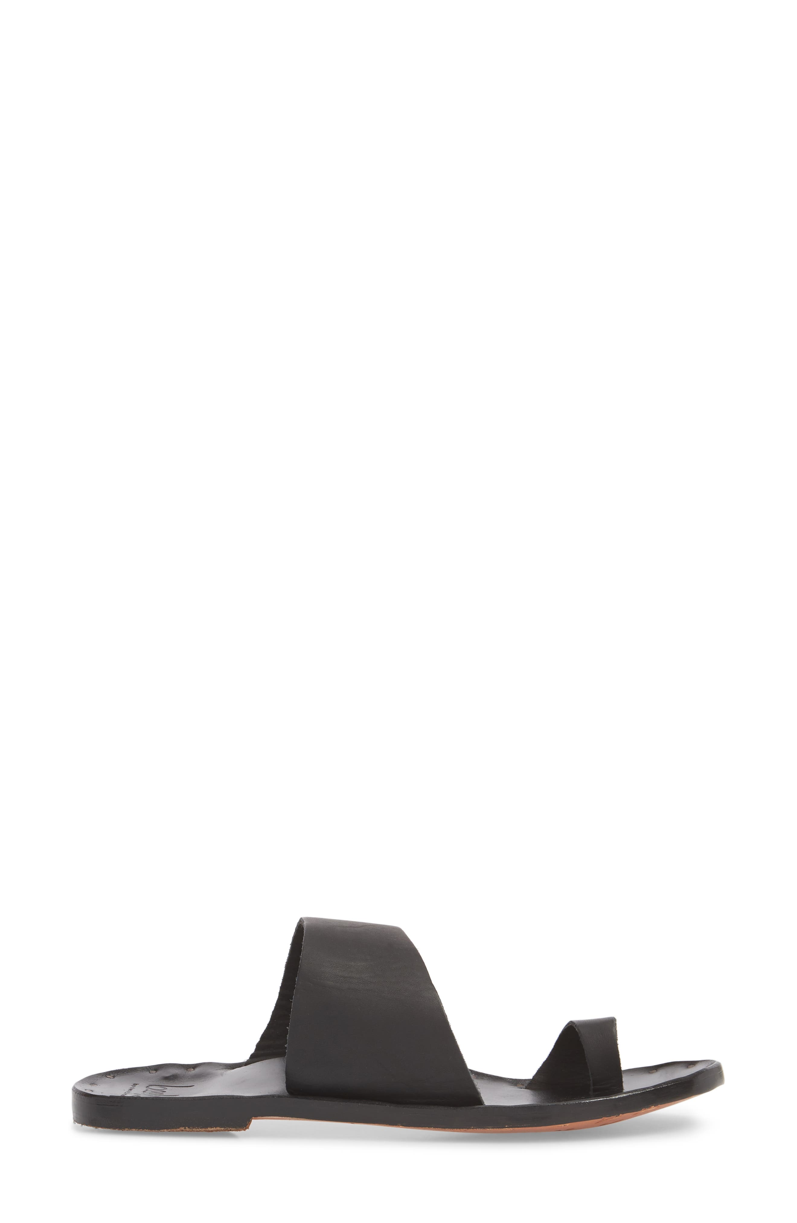 BEEK, Finch Sandal, Alternate thumbnail 3, color, BLACK/ BLACK