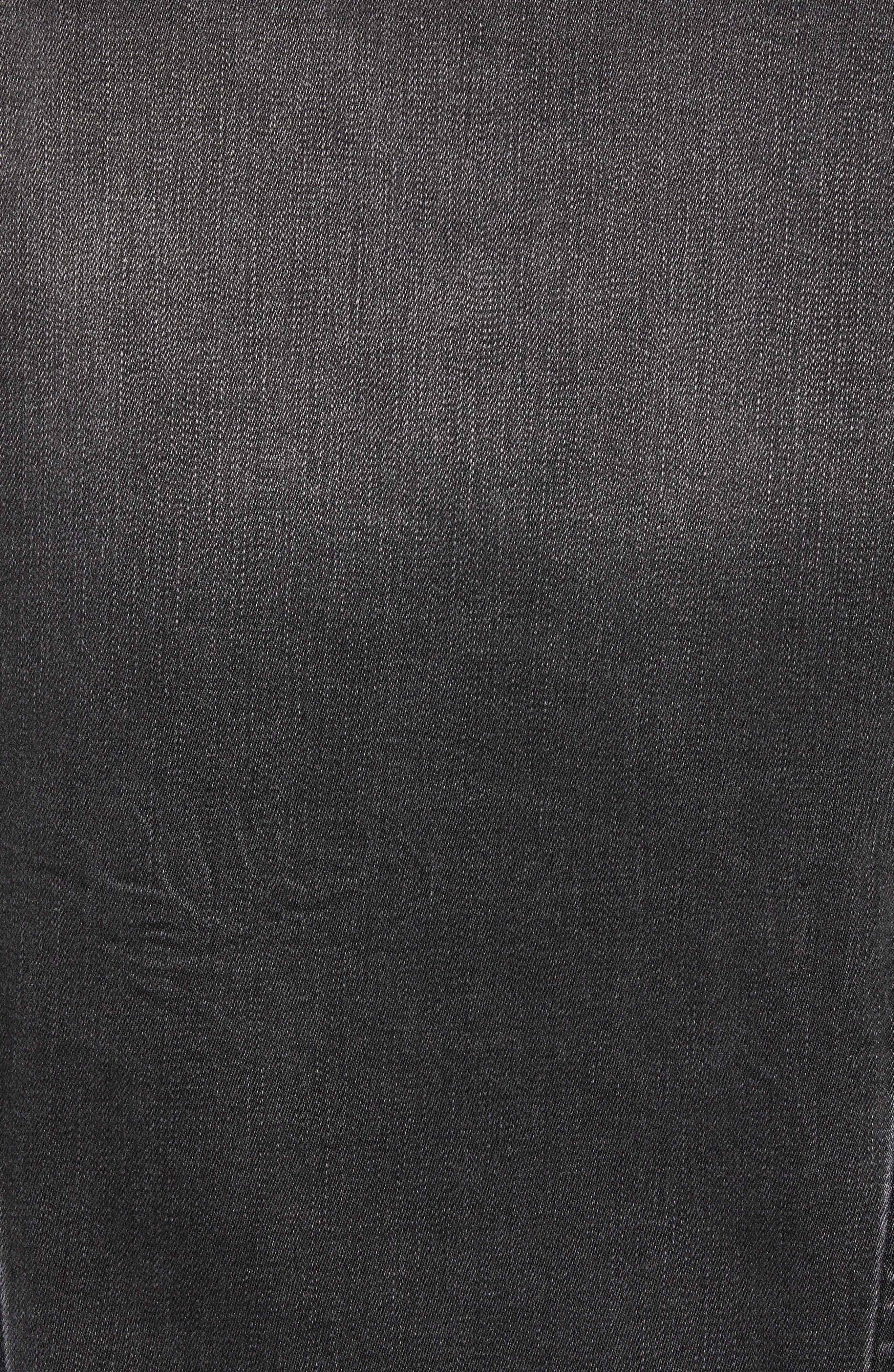 WRANGLER, Heritage Pleated Denim Jacket, Alternate thumbnail 7, color, 020