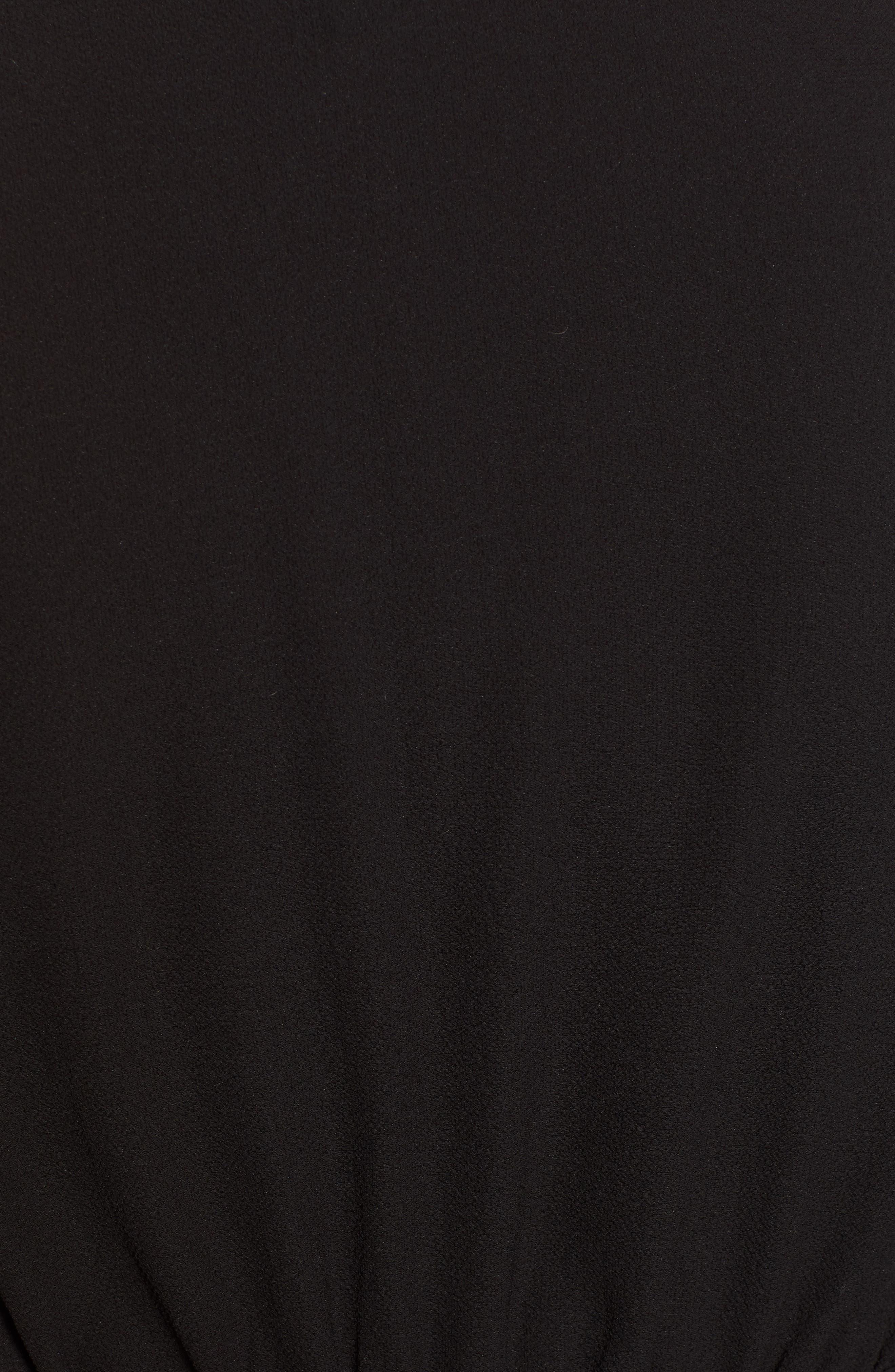 CHELSEA28, Smocked Sleeve Top, Alternate thumbnail 5, color, BLACK