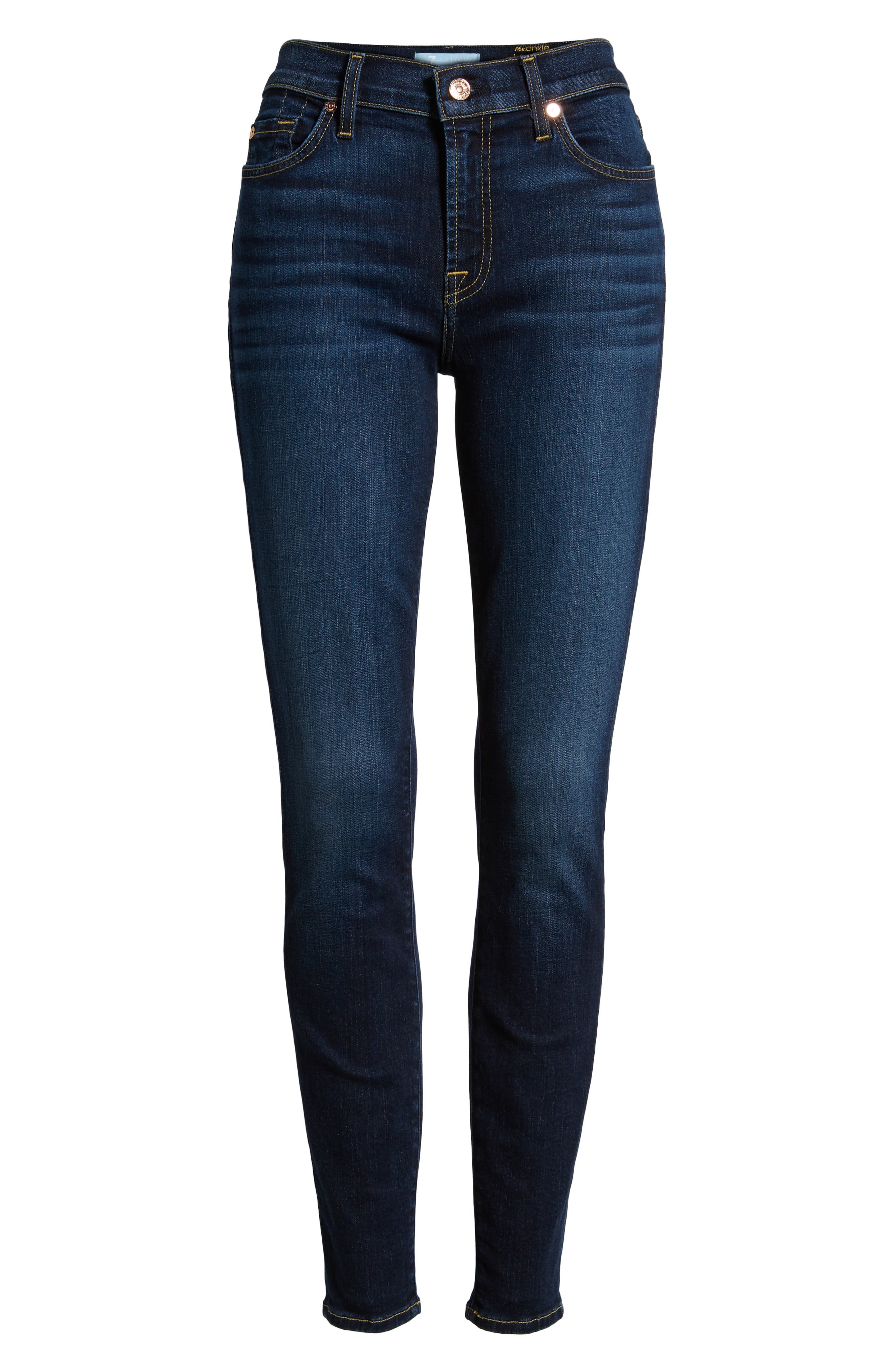 7 FOR ALL MANKIND<SUP>®</SUP>, Ankle Skinny Jeans, Alternate thumbnail 7, color, AUTHENTIC FATE