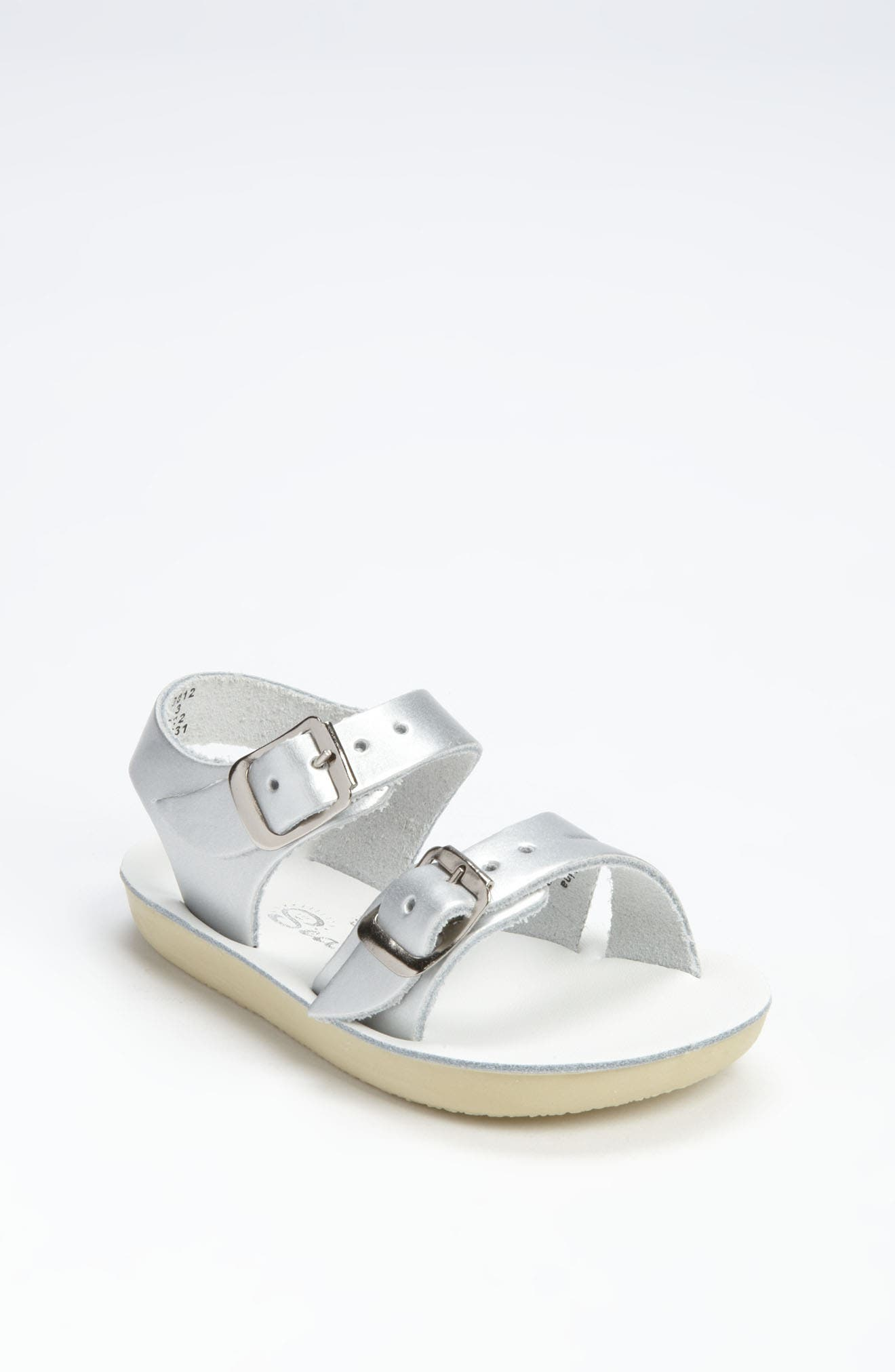 SALT WATER SANDALS BY HOY Sea Wee Water Friendly Sandal, Main, color, SILVER