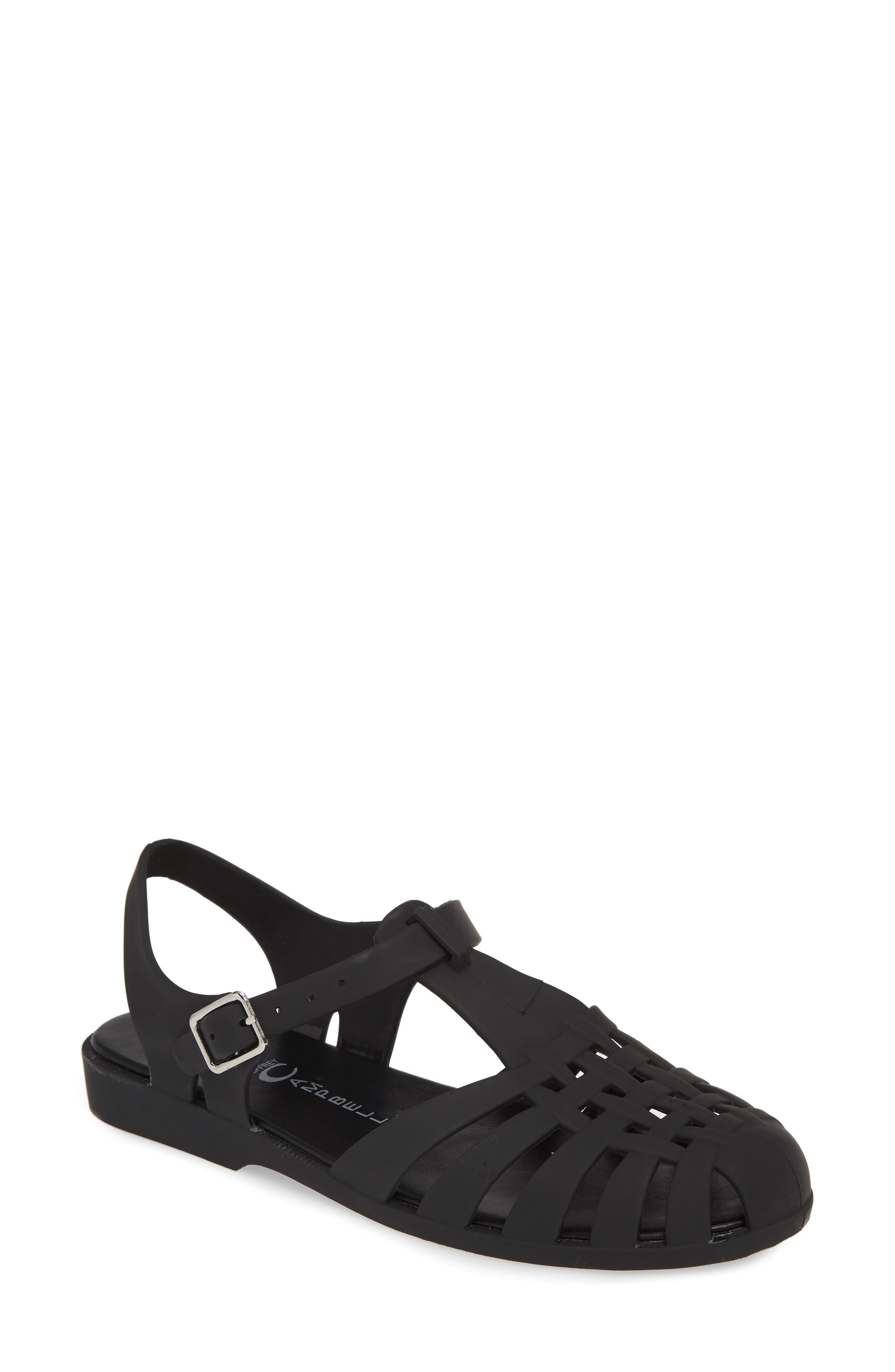 JEFFREY CAMPBELL Gelly Sandal, Main, color, BLACK MATTE