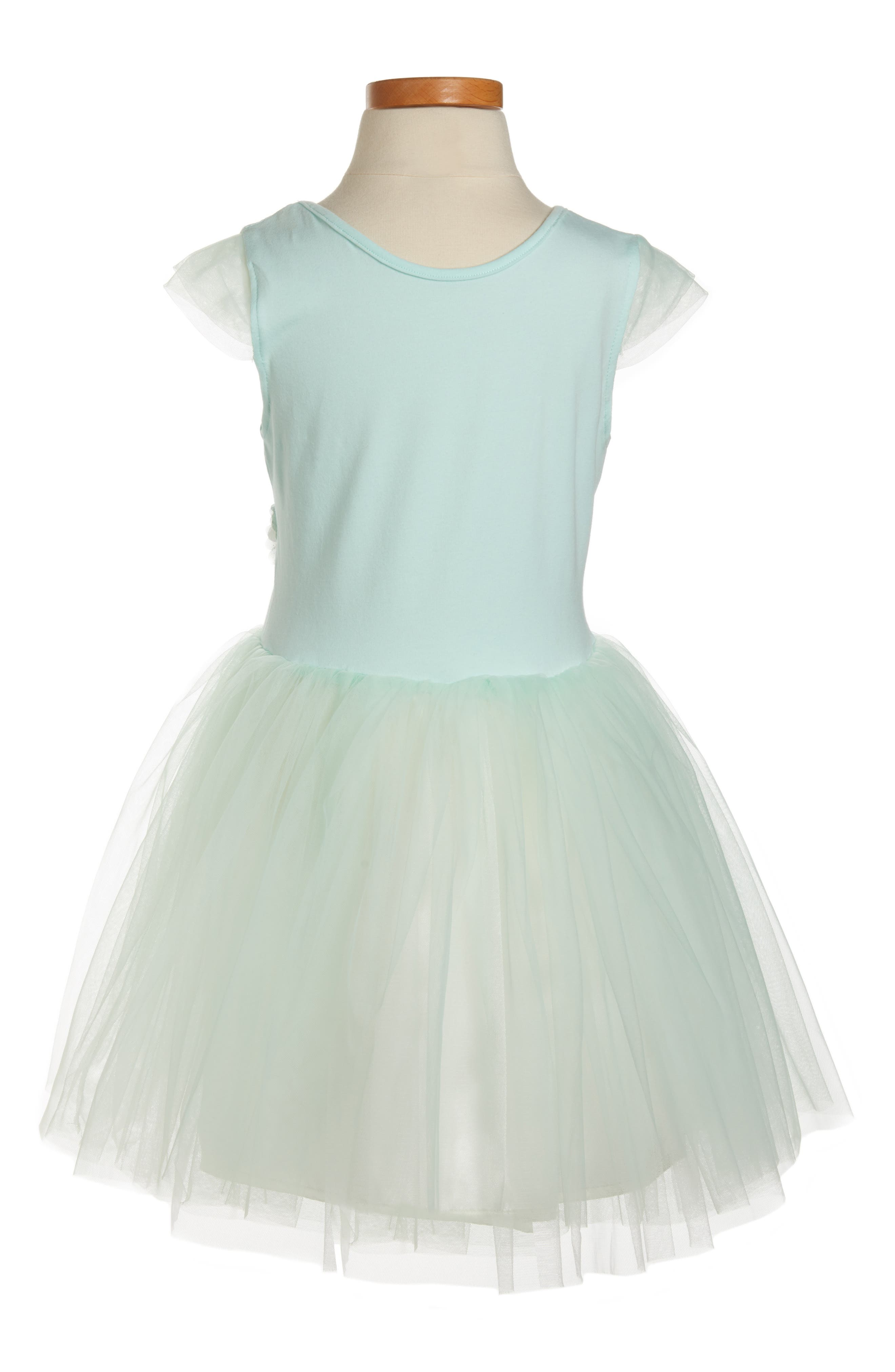 POPATU, Flower Tulle Dress, Alternate thumbnail 2, color, MINT