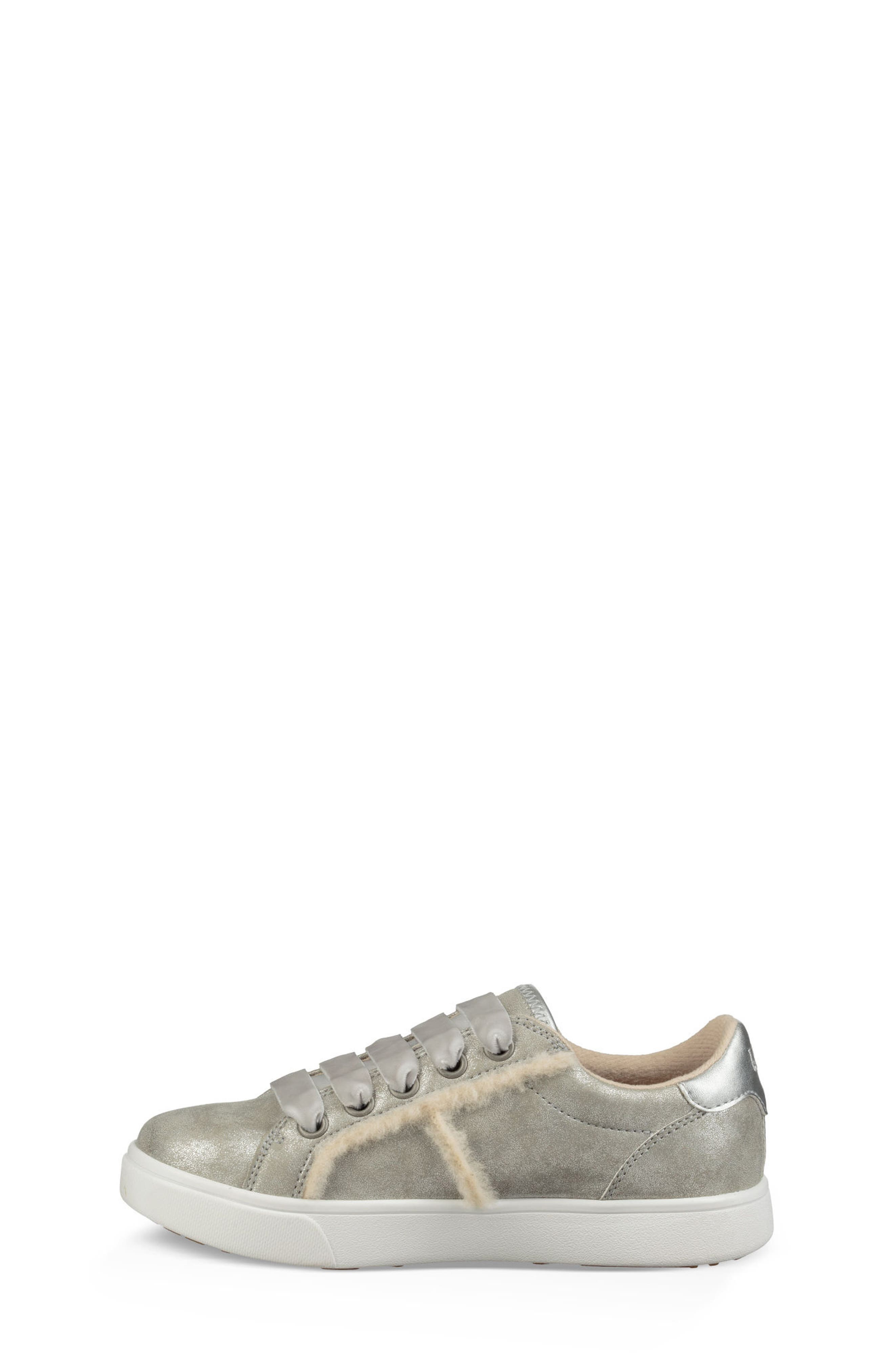 UGG<SUP>®</SUP>, Alanna Low Top Sneaker, Alternate thumbnail 5, color, SILVER