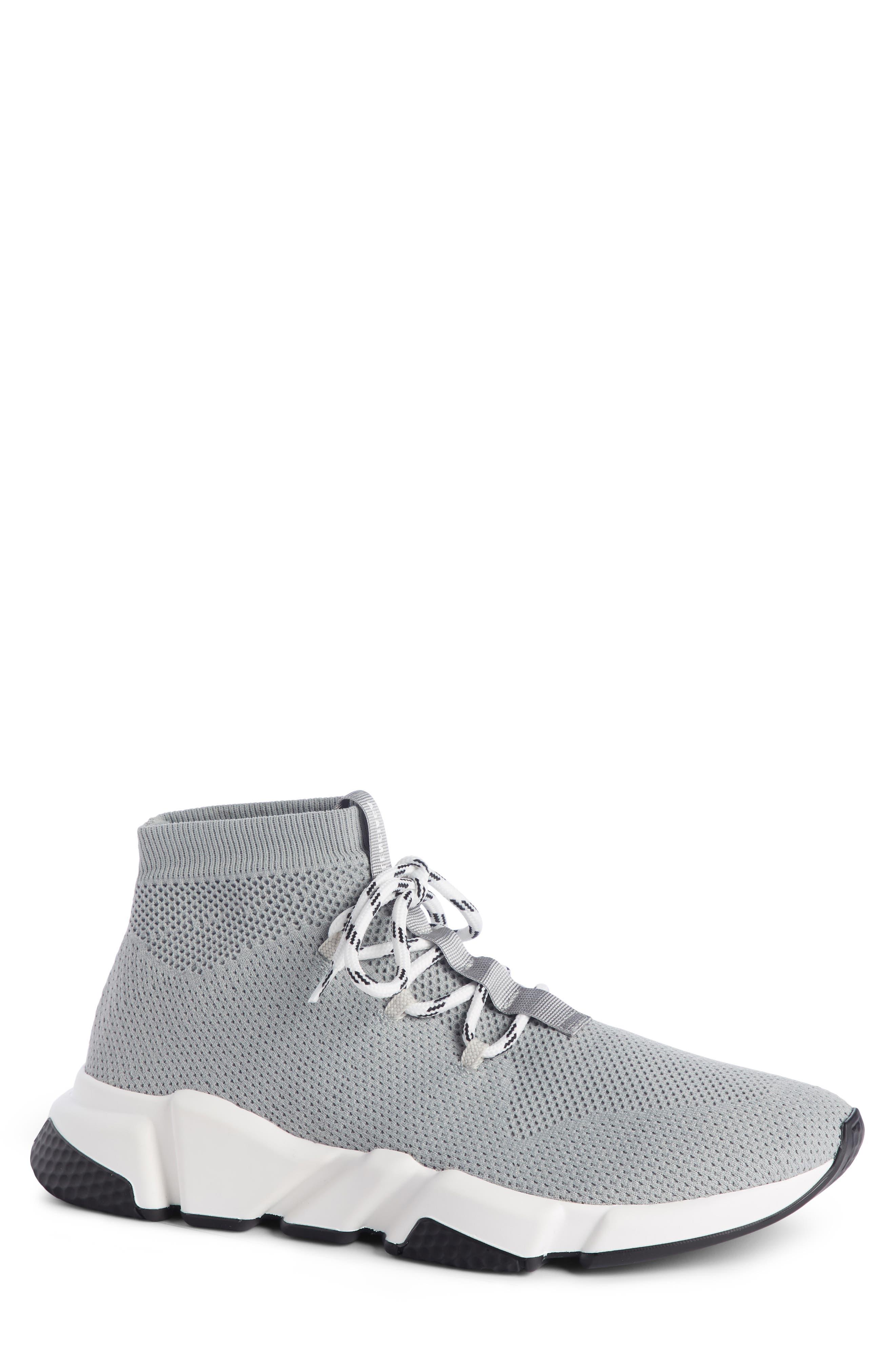 BALENCIAGA, Mid-Top Sneaker, Main thumbnail 1, color, GREY