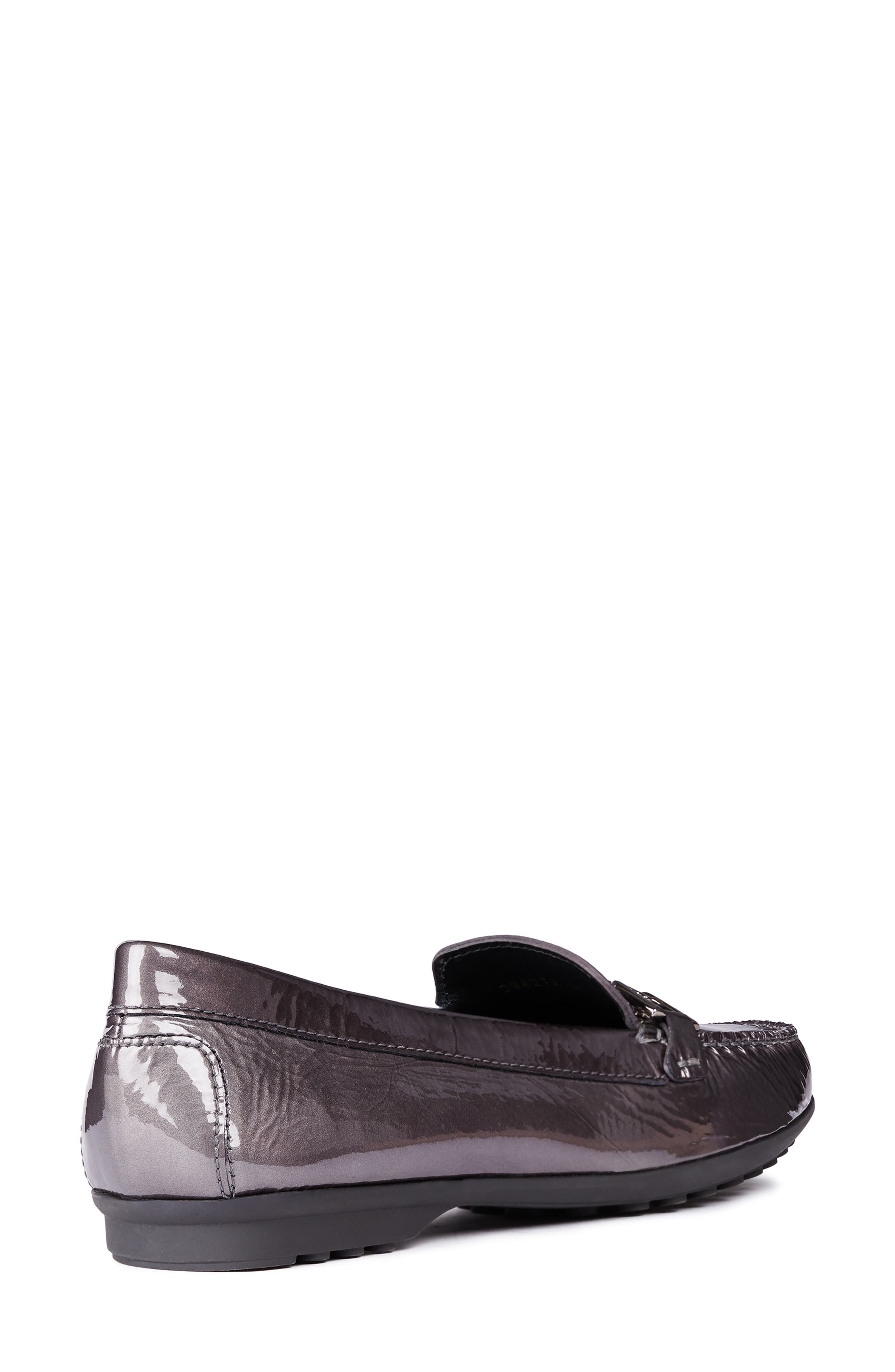 GEOX, Elidia Loafer, Alternate thumbnail 6, color, DARK GREY LEATHER