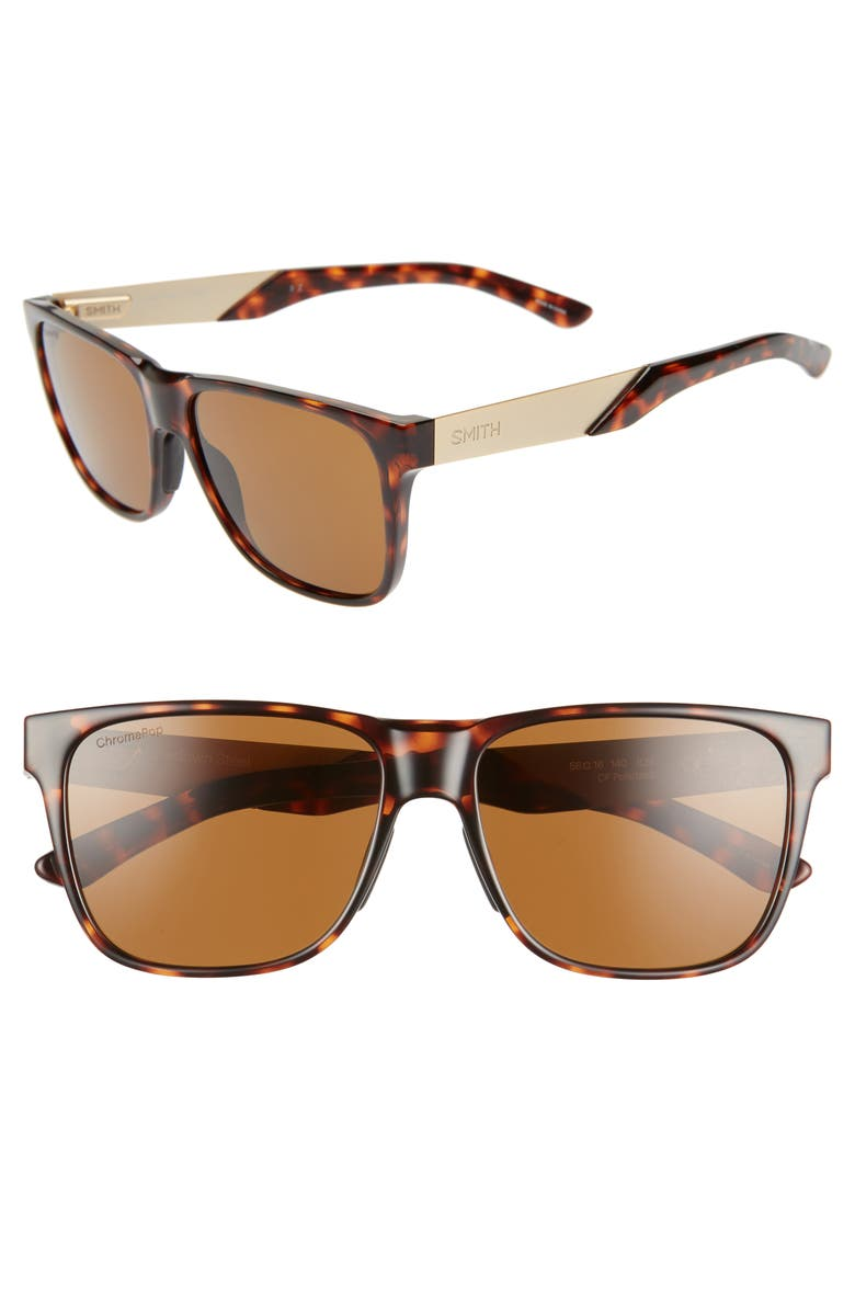 Smith LOWDOWN STEEL 56MM CHROMAPOP(TM) POLARIZED SUNGLASSES