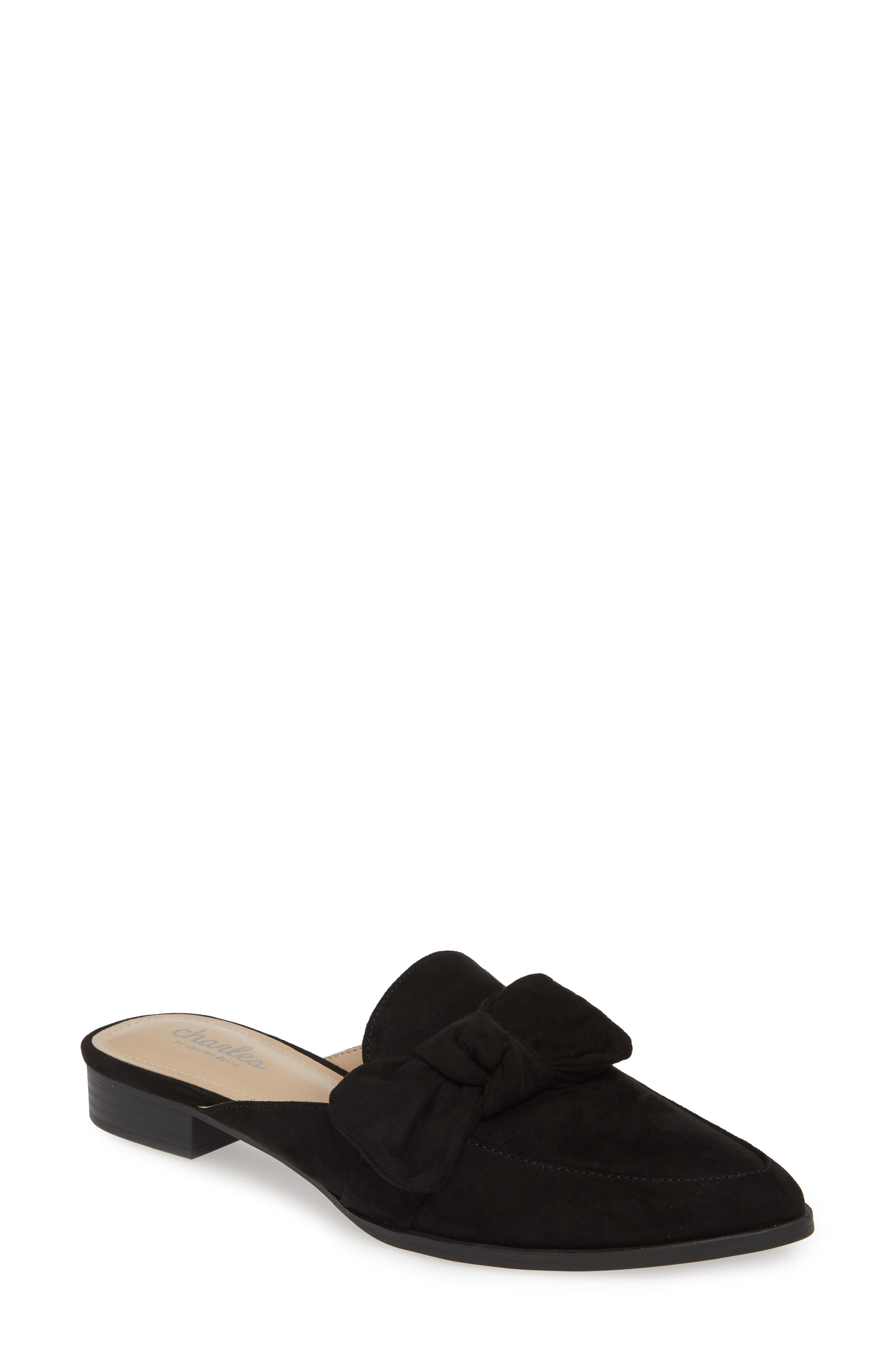 CHARLES BY CHARLES DAVID, Essence Mule, Main thumbnail 1, color, BLACK FABRIC