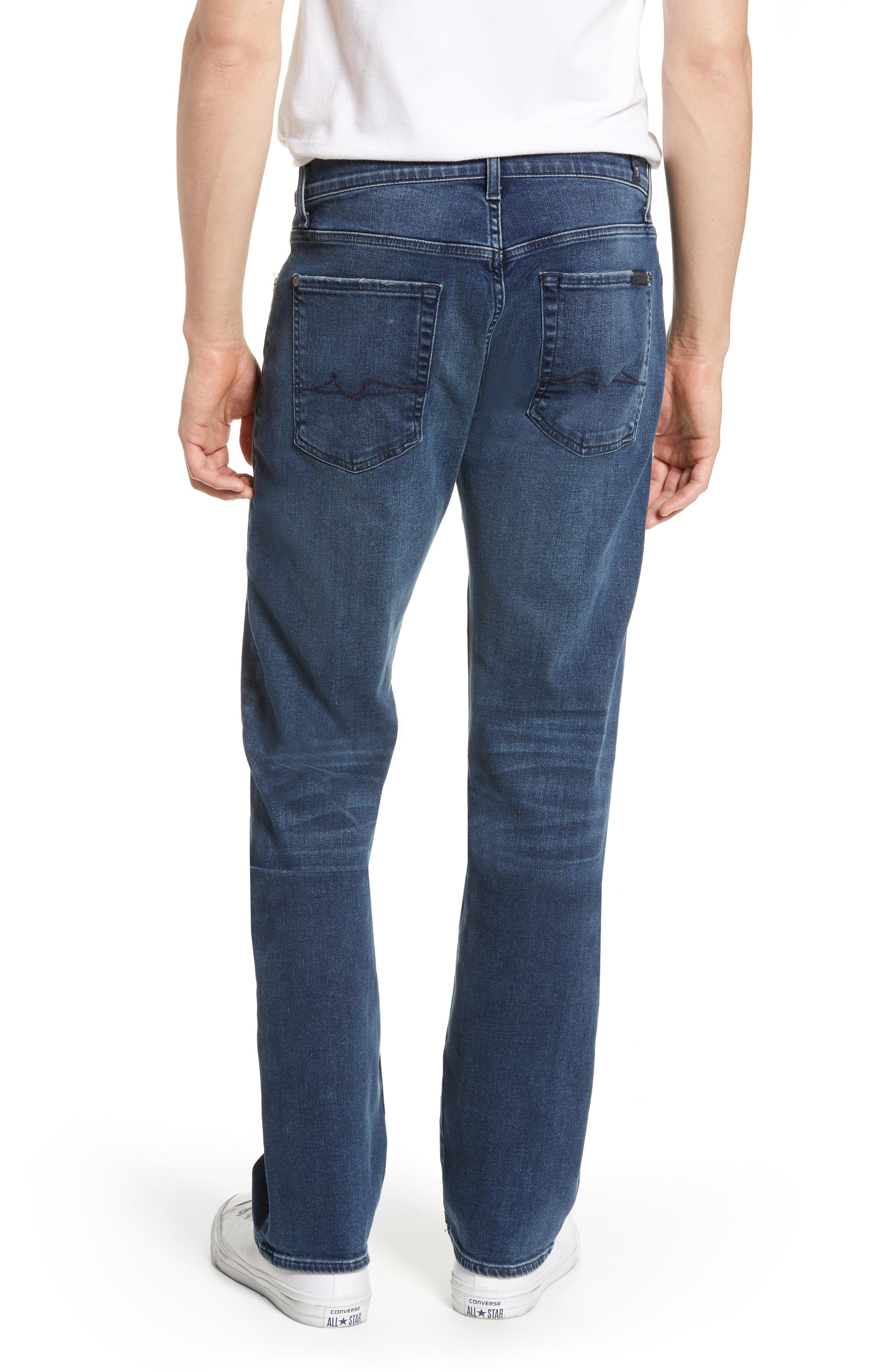 7 FOR ALL MANKIND<SUP>®</SUP>, Standard Straight Leg Jeans, Alternate thumbnail 2, color, INVINCIBLE