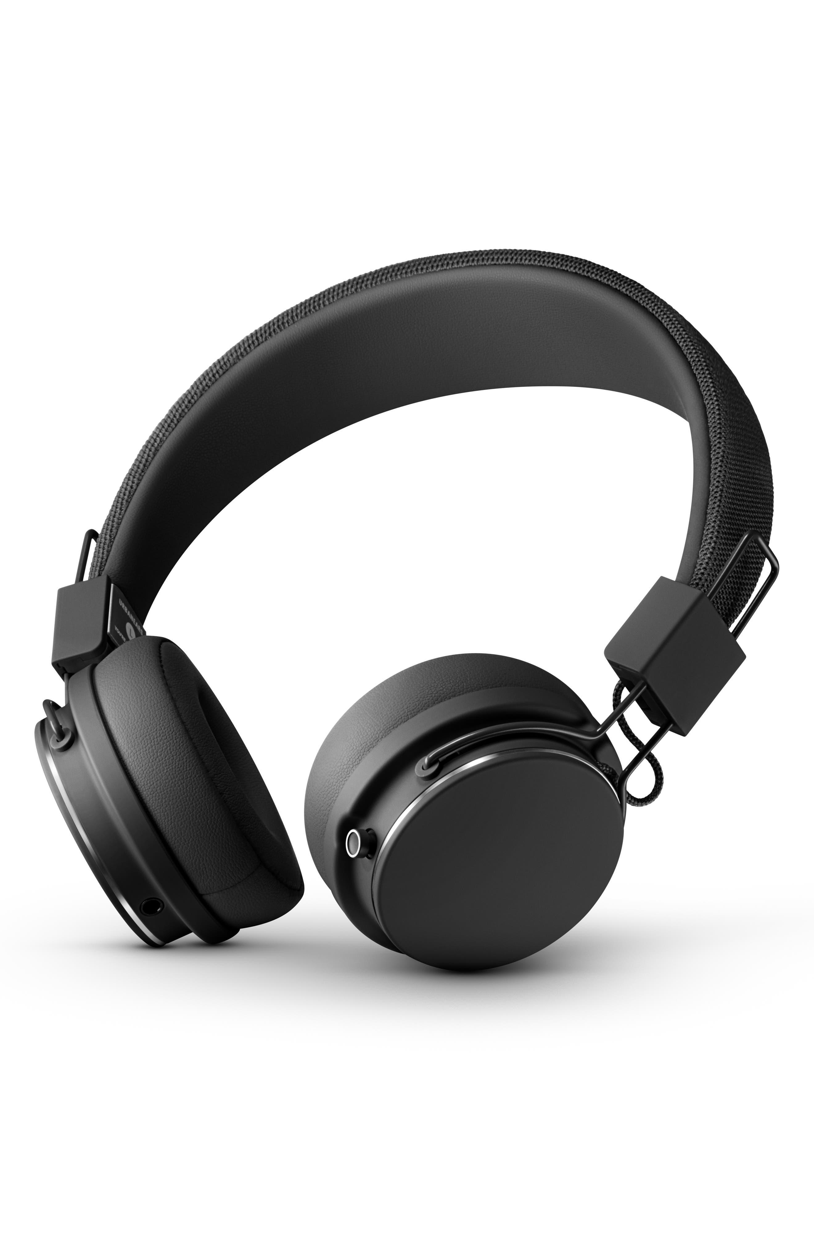 URBANEARS, Plattan II Wireless Bluetooth Headphones, Main thumbnail 1, color, BLACK
