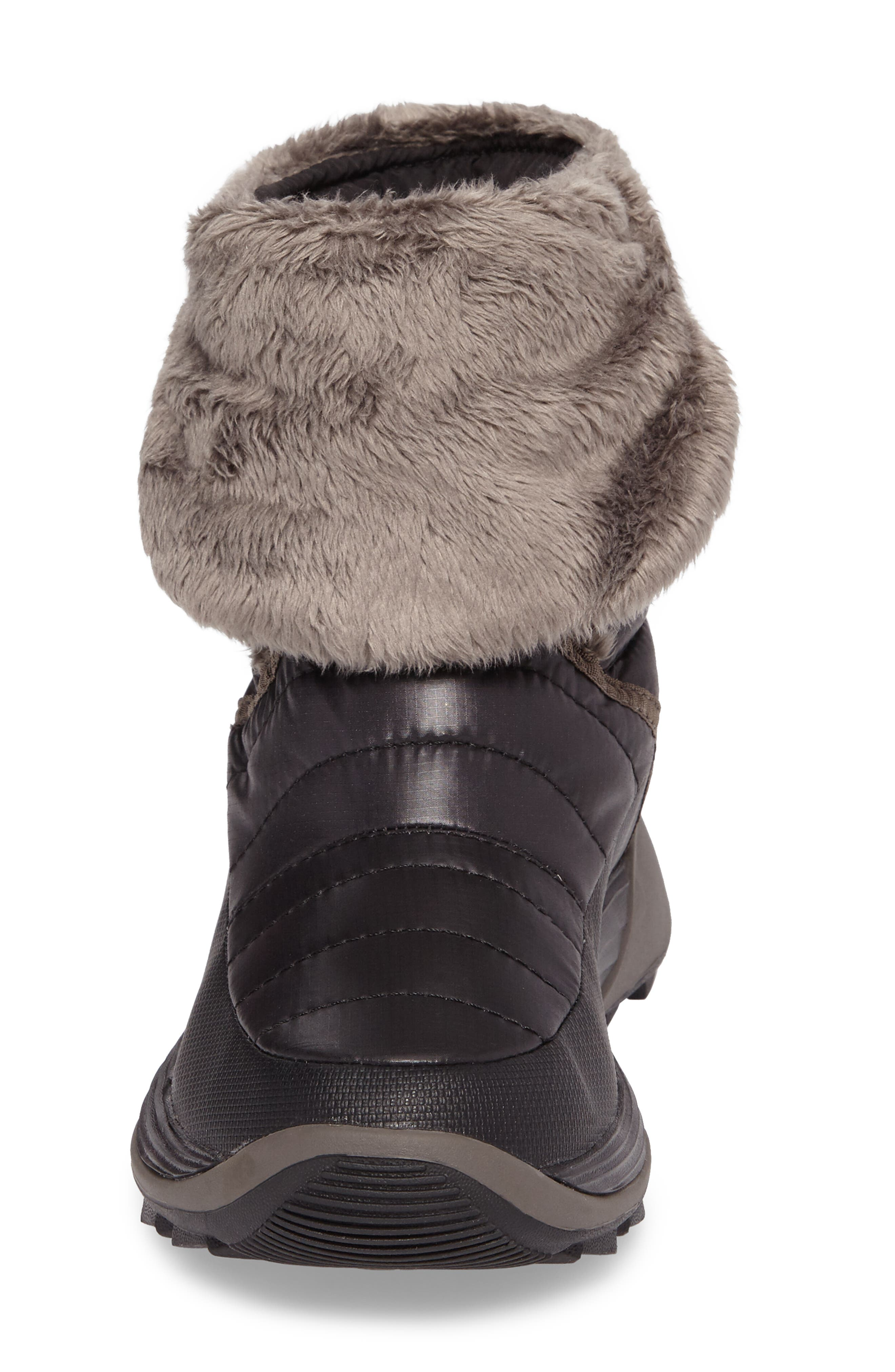 THE NORTH FACE, Amore II Water-Resistant Winter Boot, Alternate thumbnail 4, color, TNF BLACK/ DARK GULL GREY