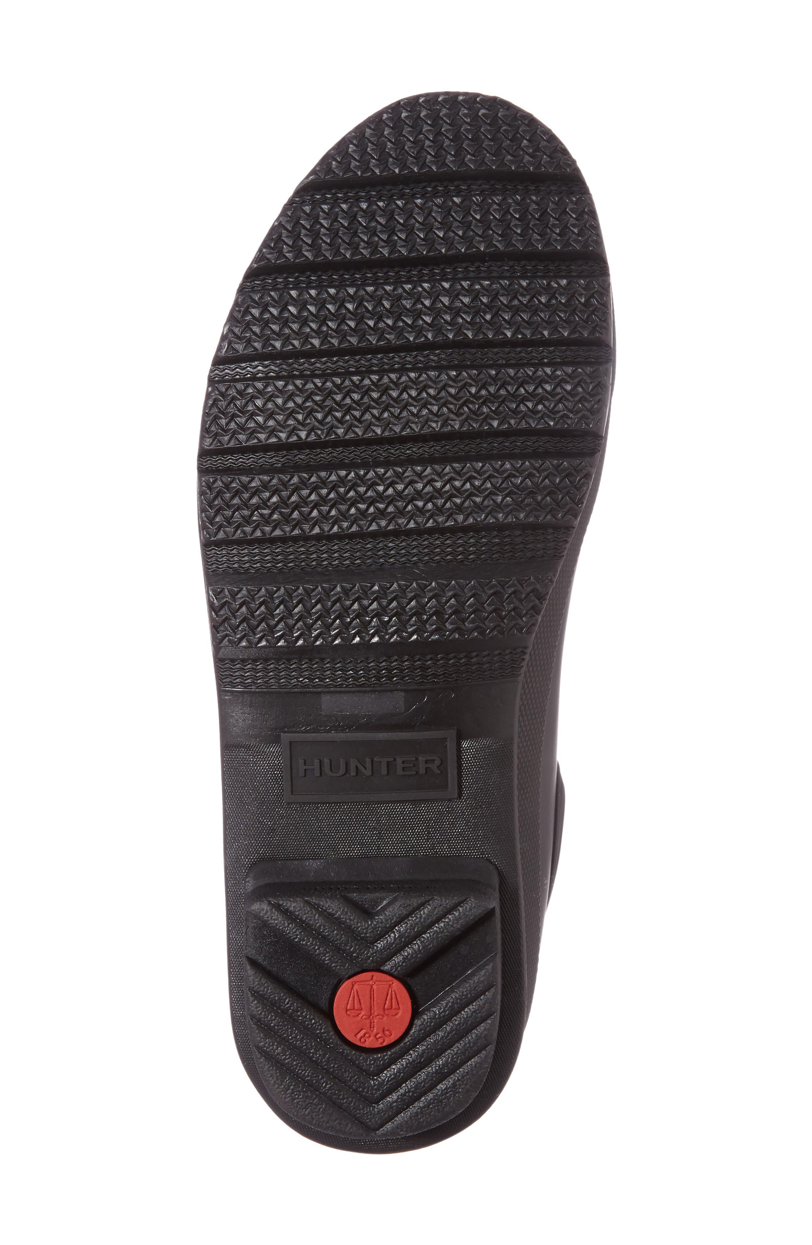 HUNTER, Original Waterproof Chelsea Rain Boot, Alternate thumbnail 4, color, BLACK MATTE