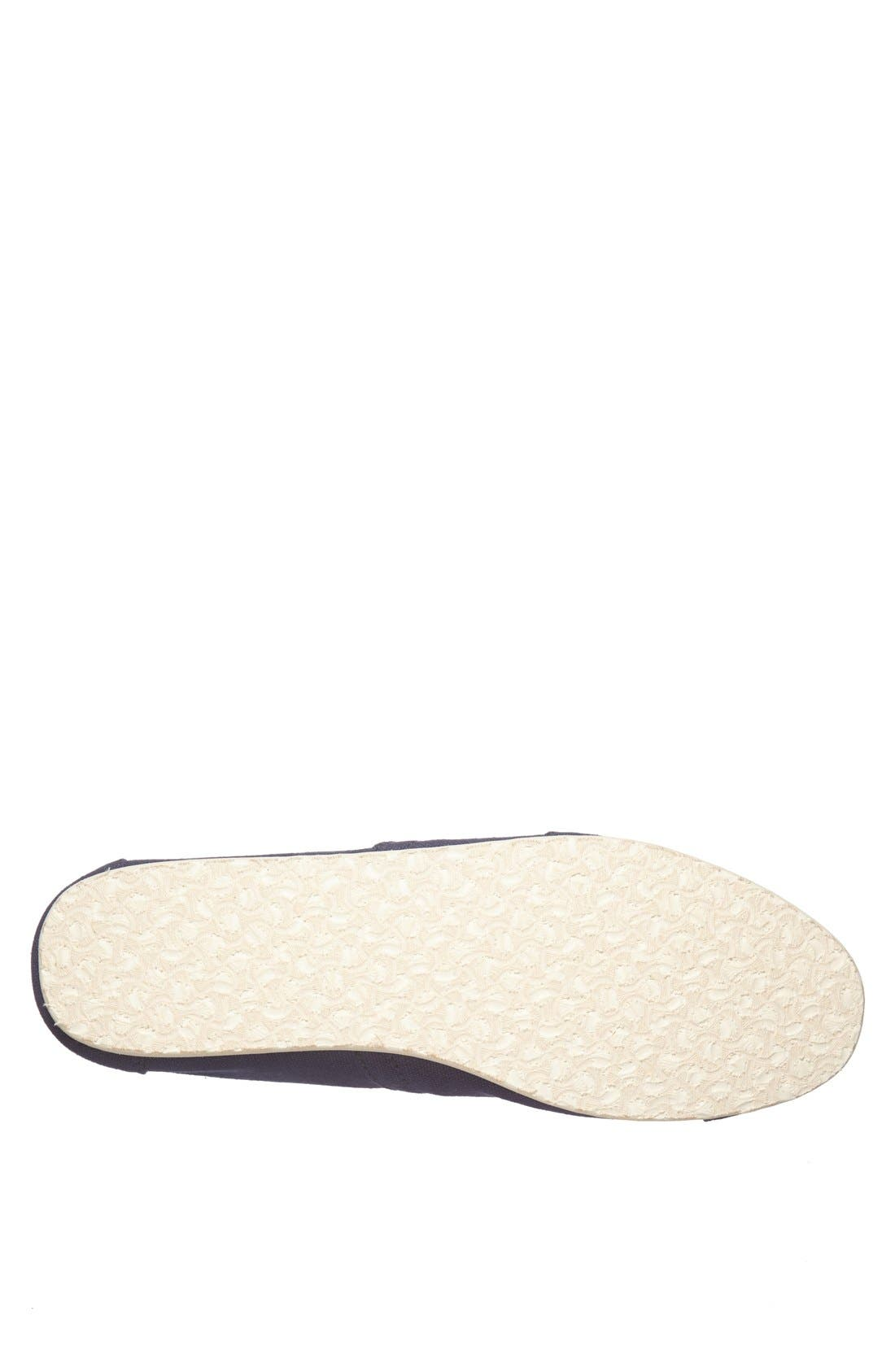 TOMS, 'Classic' Canvas Slip-On, Alternate thumbnail 7, color, NAVY
