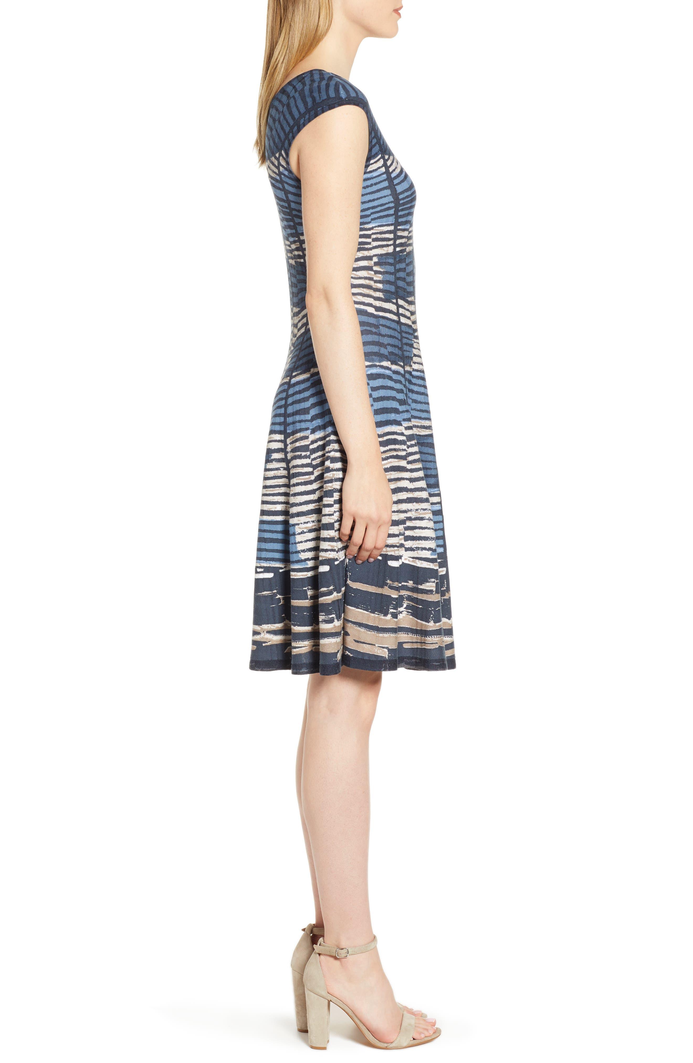 NIC+ZOE, Mesmerize Twirl Dress, Alternate thumbnail 4, color, MULTI