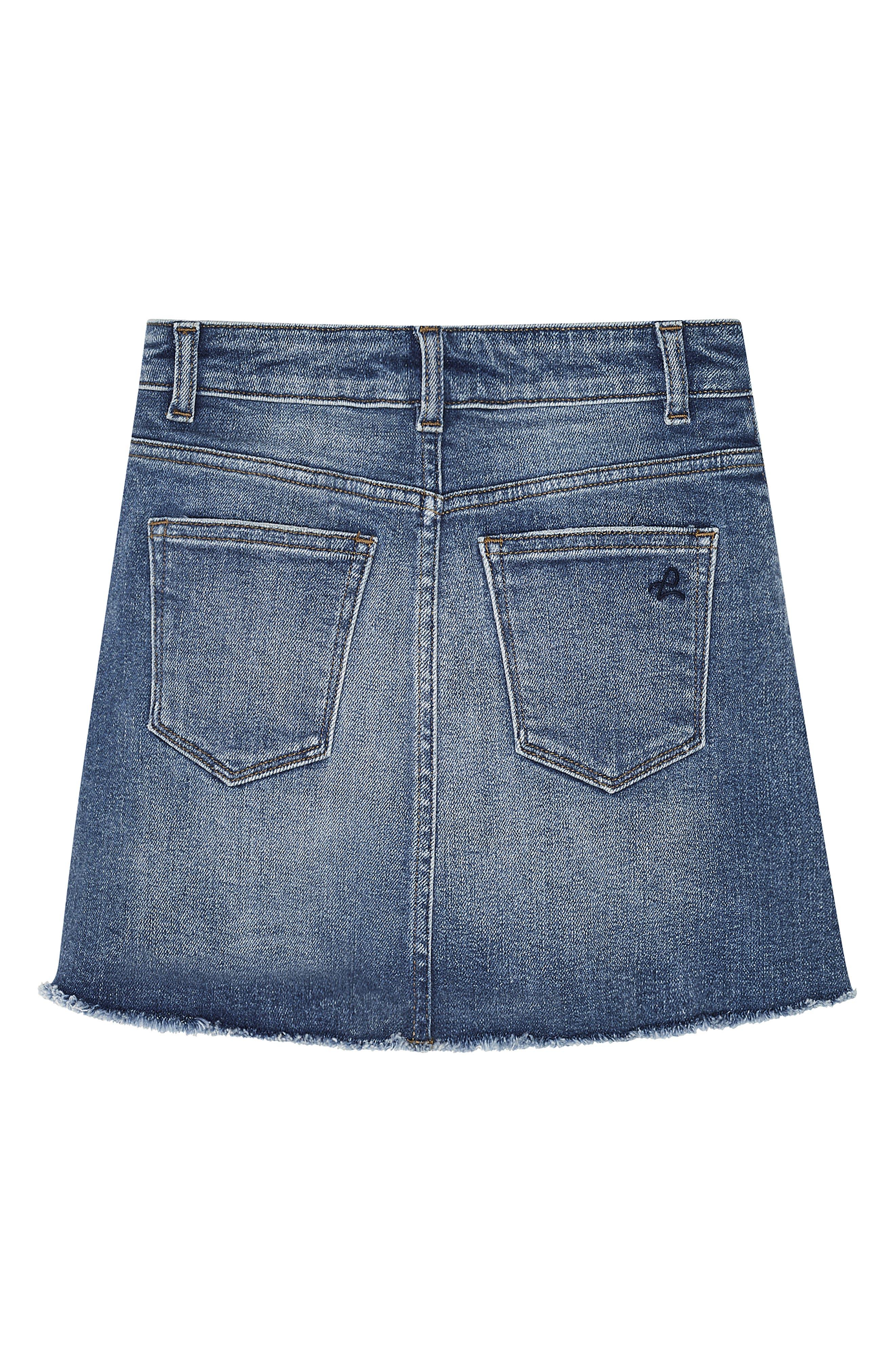 DL1961, Denim Miniskirt, Alternate thumbnail 2, color, BLUE ROSE