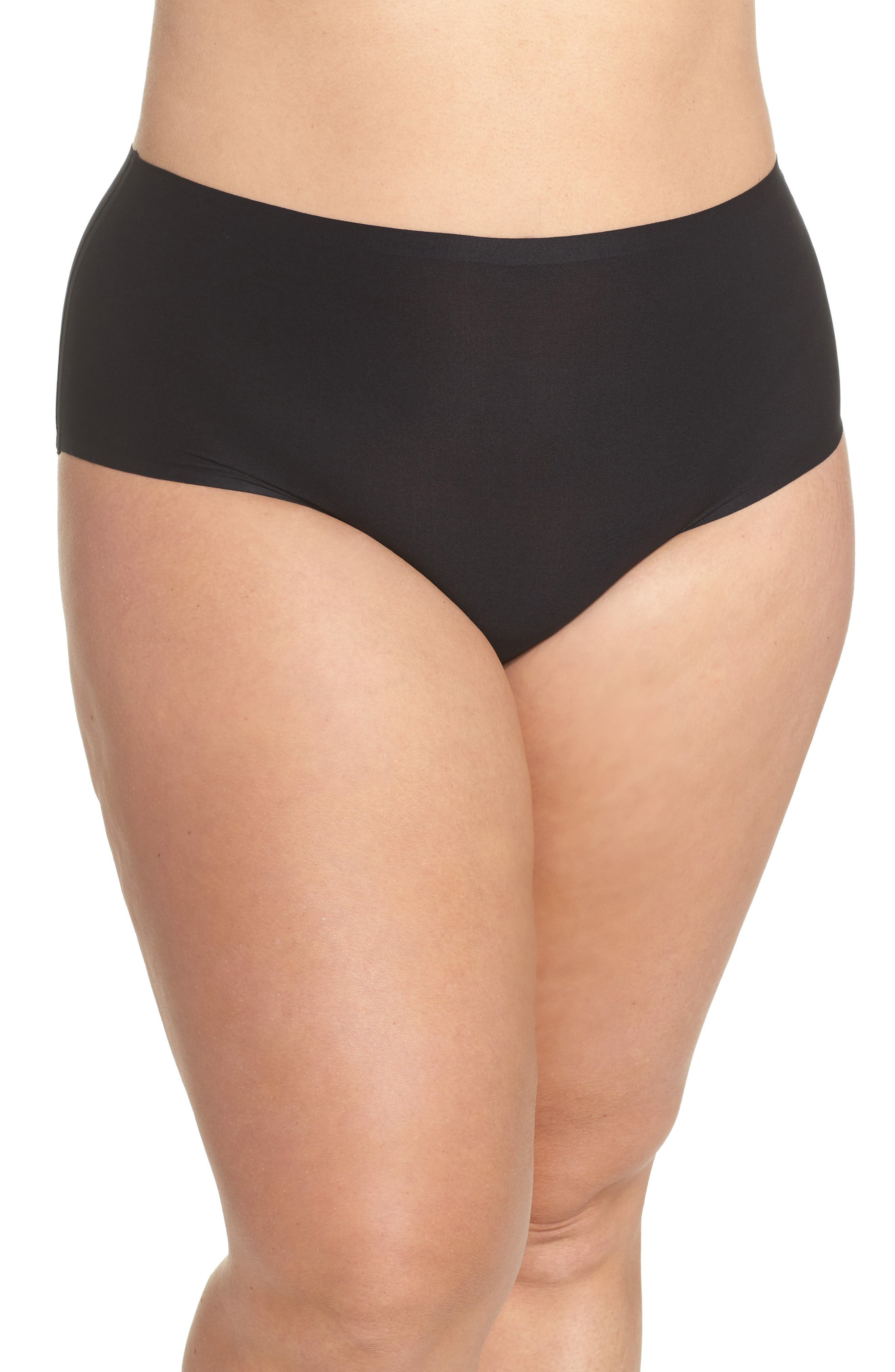 CHANTELLE LINGERIE, Soft Stretch High Waist Seamless Briefs, Main thumbnail 1, color, BLACK