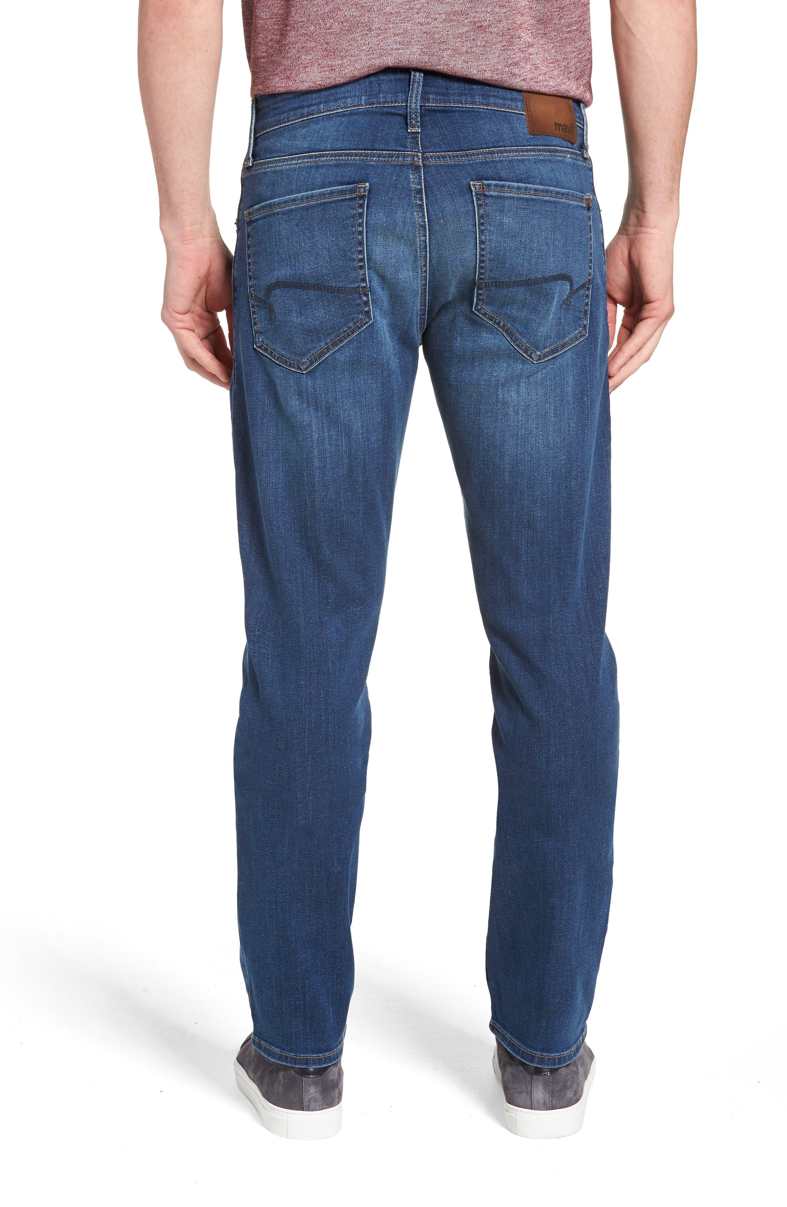 MAVI JEANS, Zach Straight Leg Jeans, Alternate thumbnail 2, color, DARK USED CAPITOL HILL