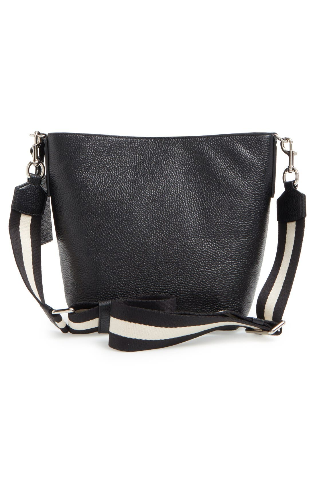 MARC JACOBS, 'Gotham' Leather Bucket Bag, Alternate thumbnail 4, color, 001